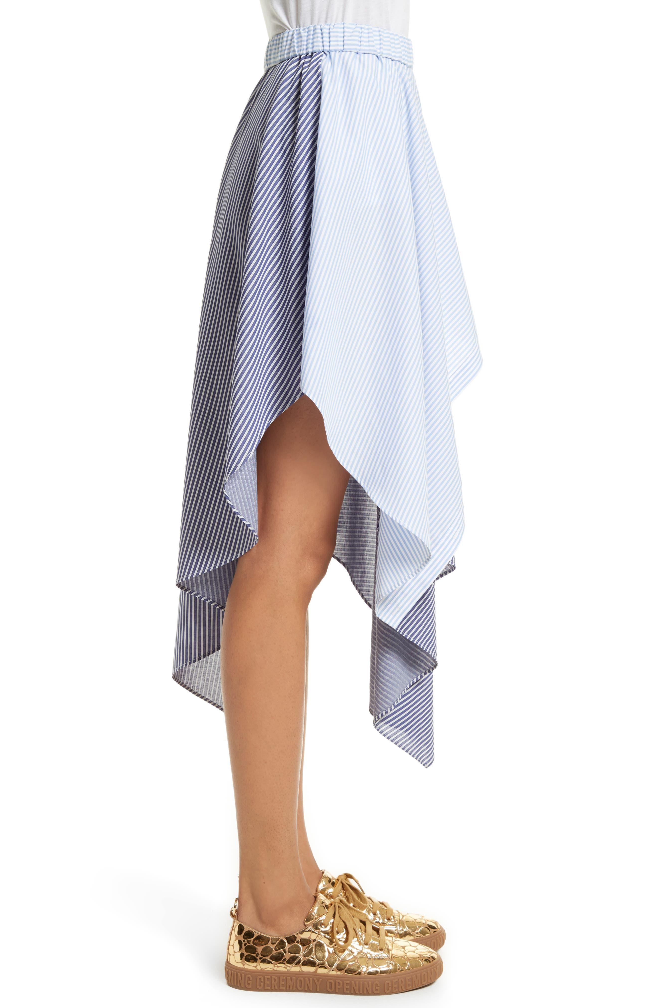Cody Stripe Asymmetrical Skirt,                             Alternate thumbnail 3, color,