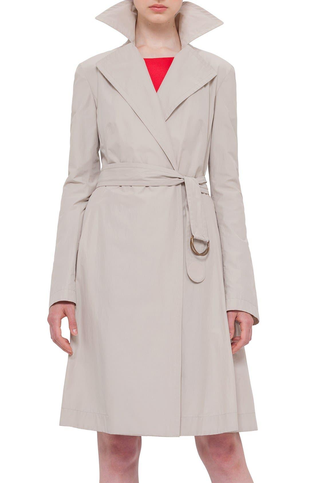 Techno Cotton Trench Coat, Main, color, 280