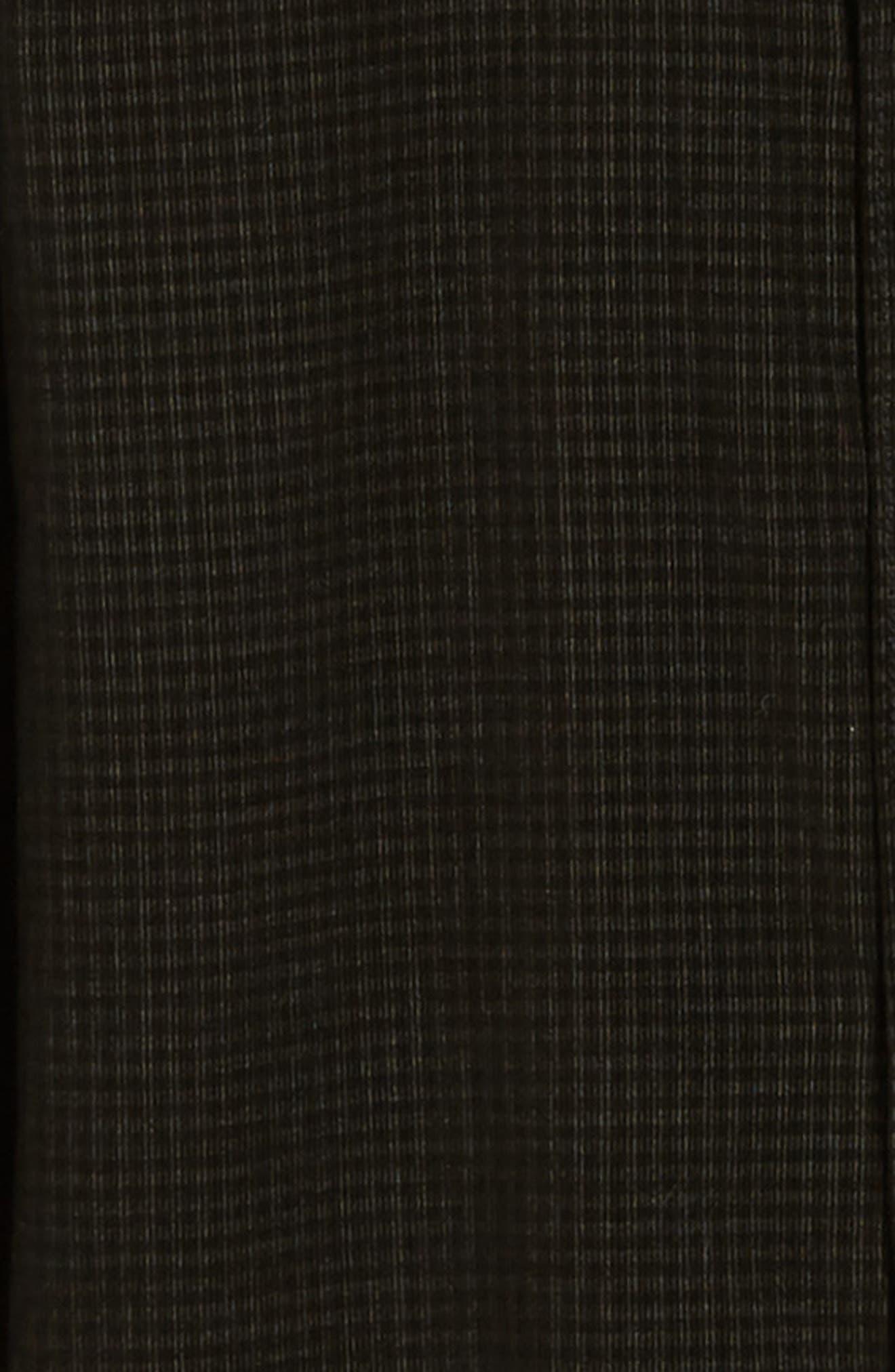 Regular Fit Mini Check Corduroy Shirt,                             Alternate thumbnail 6, color,                             BLACK IRIS