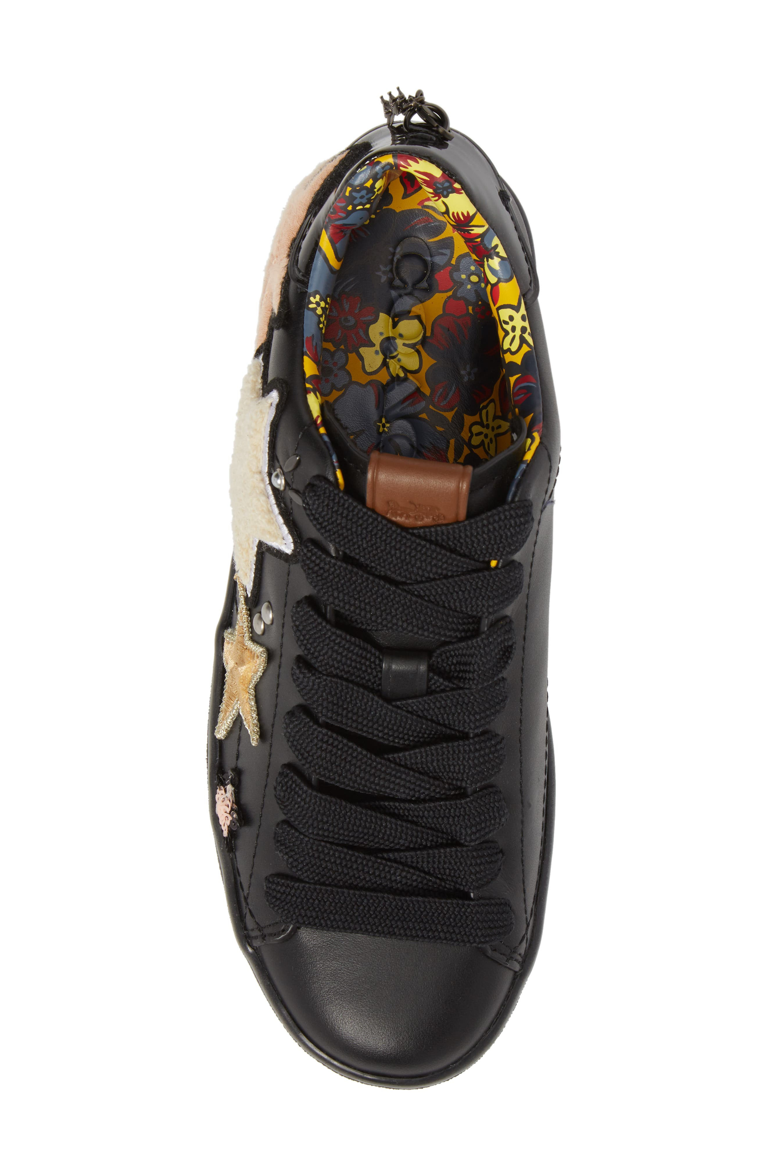 Star Patch Sneaker,                             Alternate thumbnail 5, color,                             001