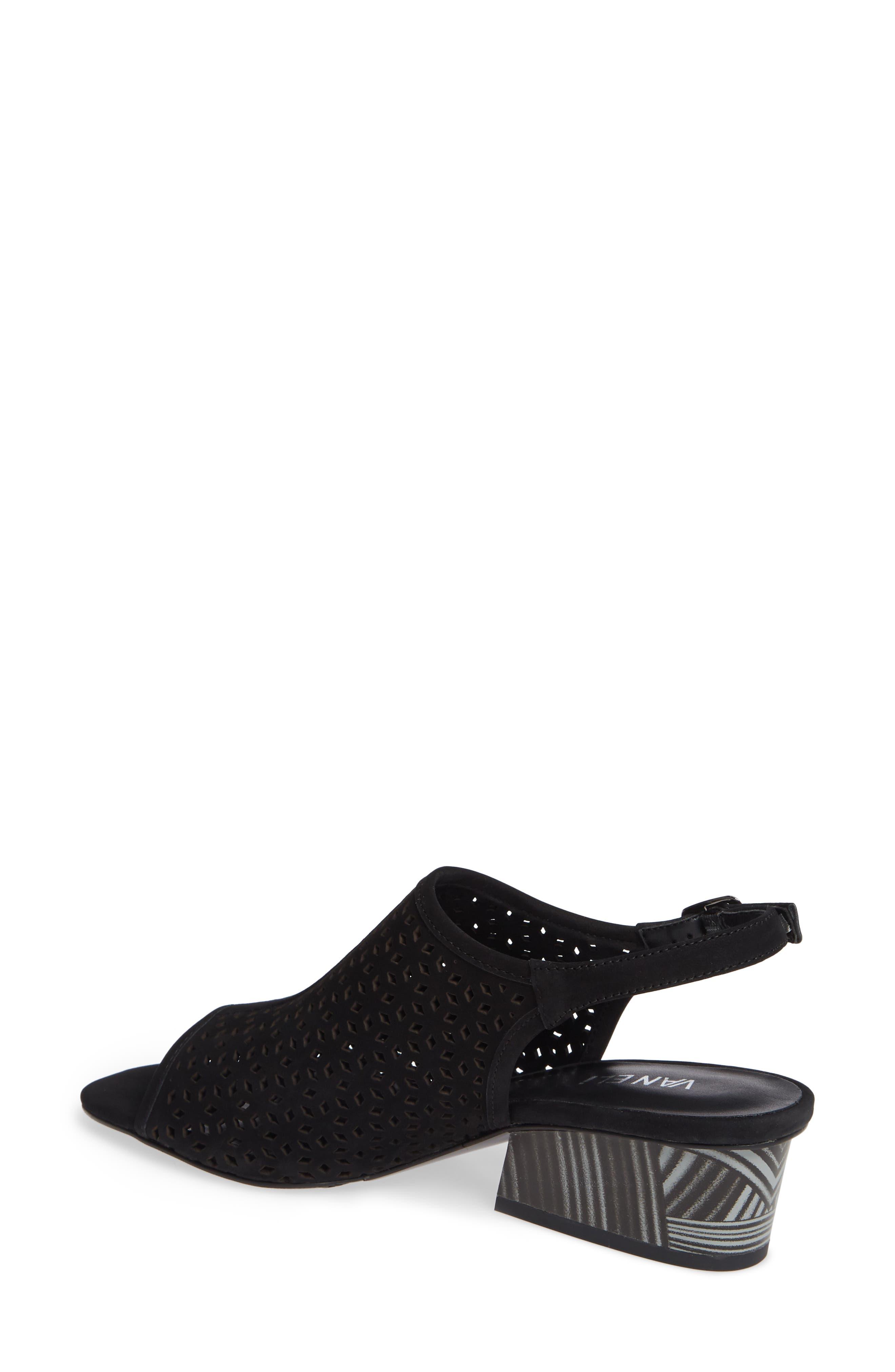 Candra Perforated Sandal,                             Alternate thumbnail 2, color,                             BLACK NUBUCK LEATHER