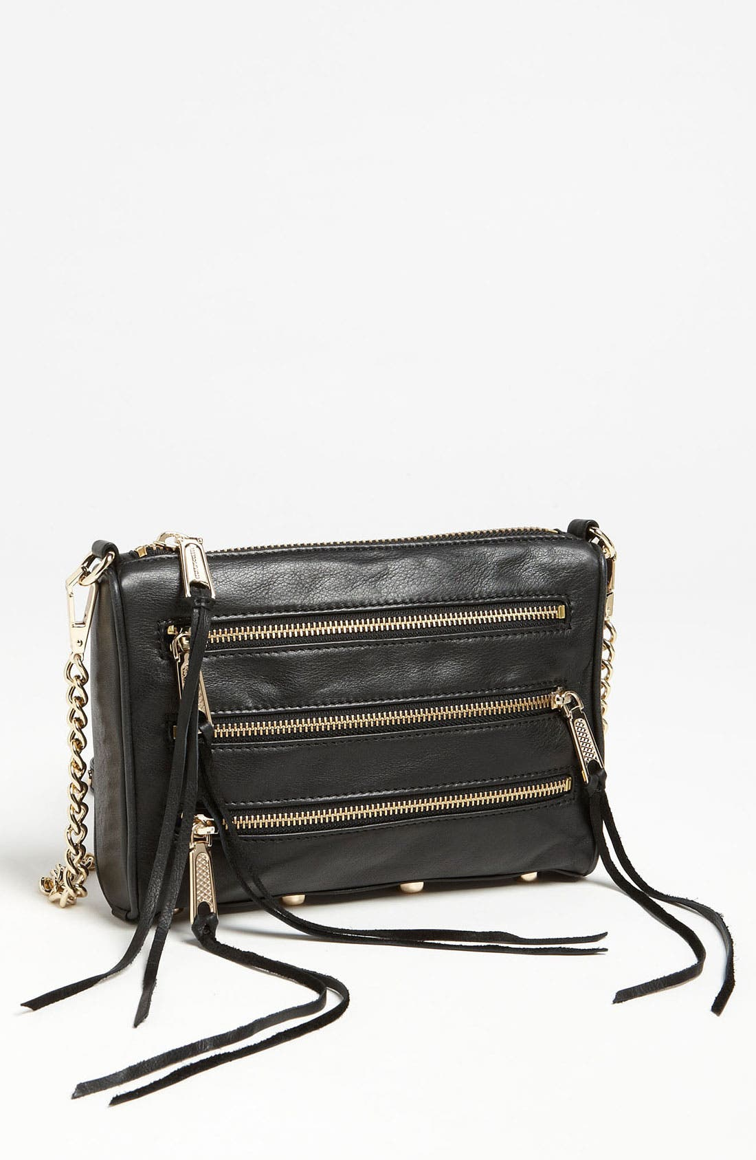 REBECCA MINKOFF,                             'Mini 5 Zip' Convertible Crossbody Bag,                             Main thumbnail 1, color,                             001