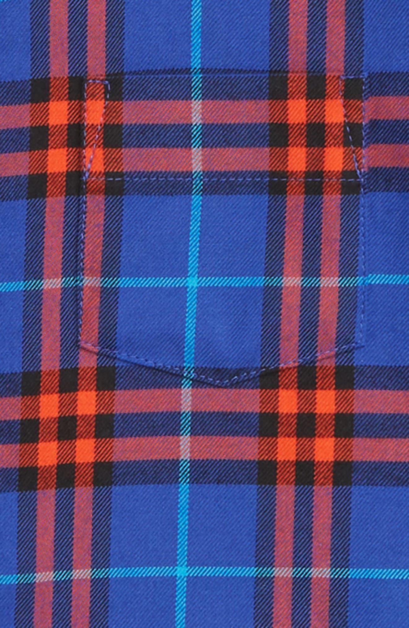 Fred Plaid Woven Shirt,                             Alternate thumbnail 2, color,                             SAPPHIRE BLUE IP CHK