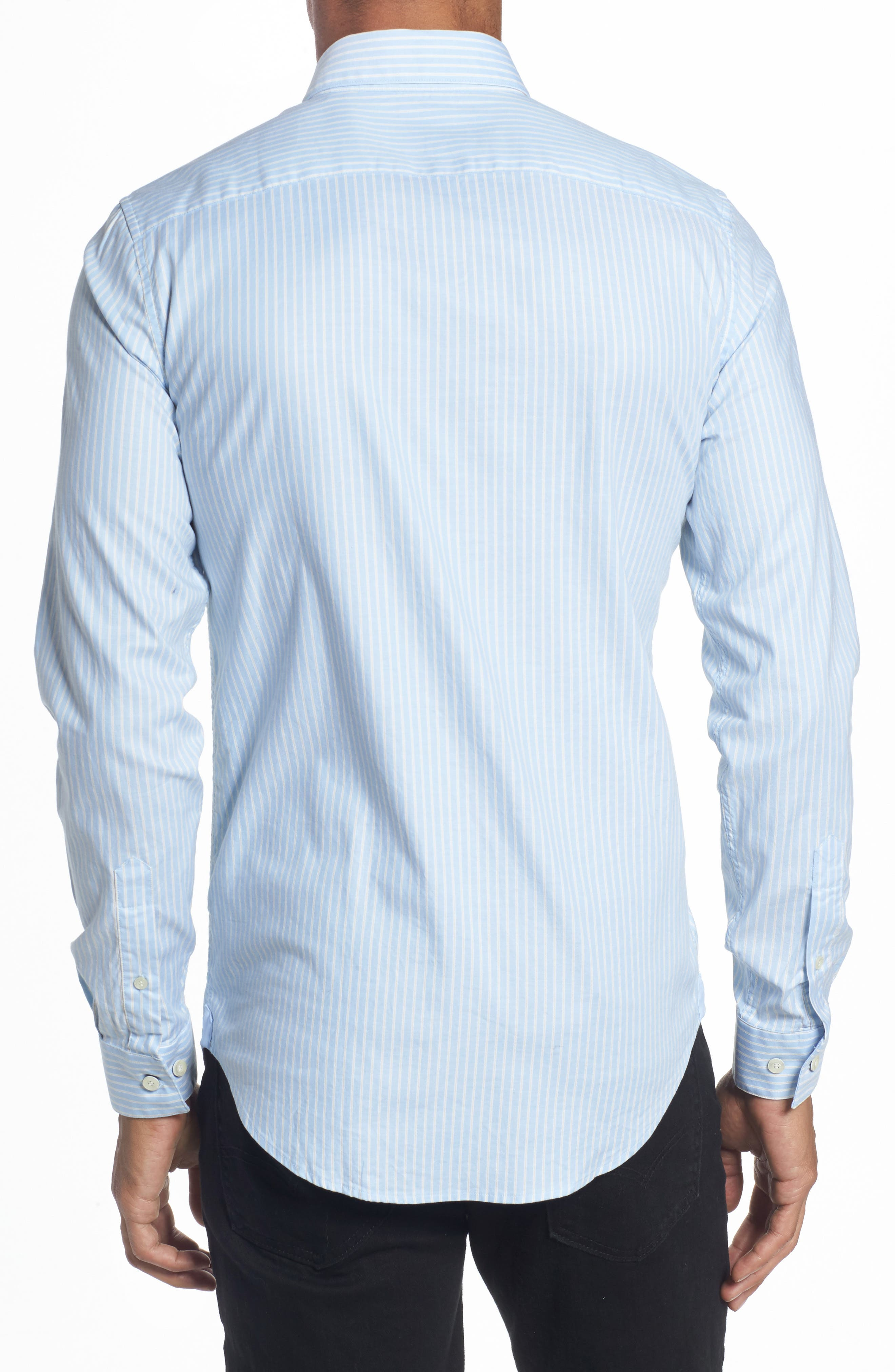 LACOSTE,                             Slim Fit Stripe Shirt,                             Alternate thumbnail 2, color,                             436