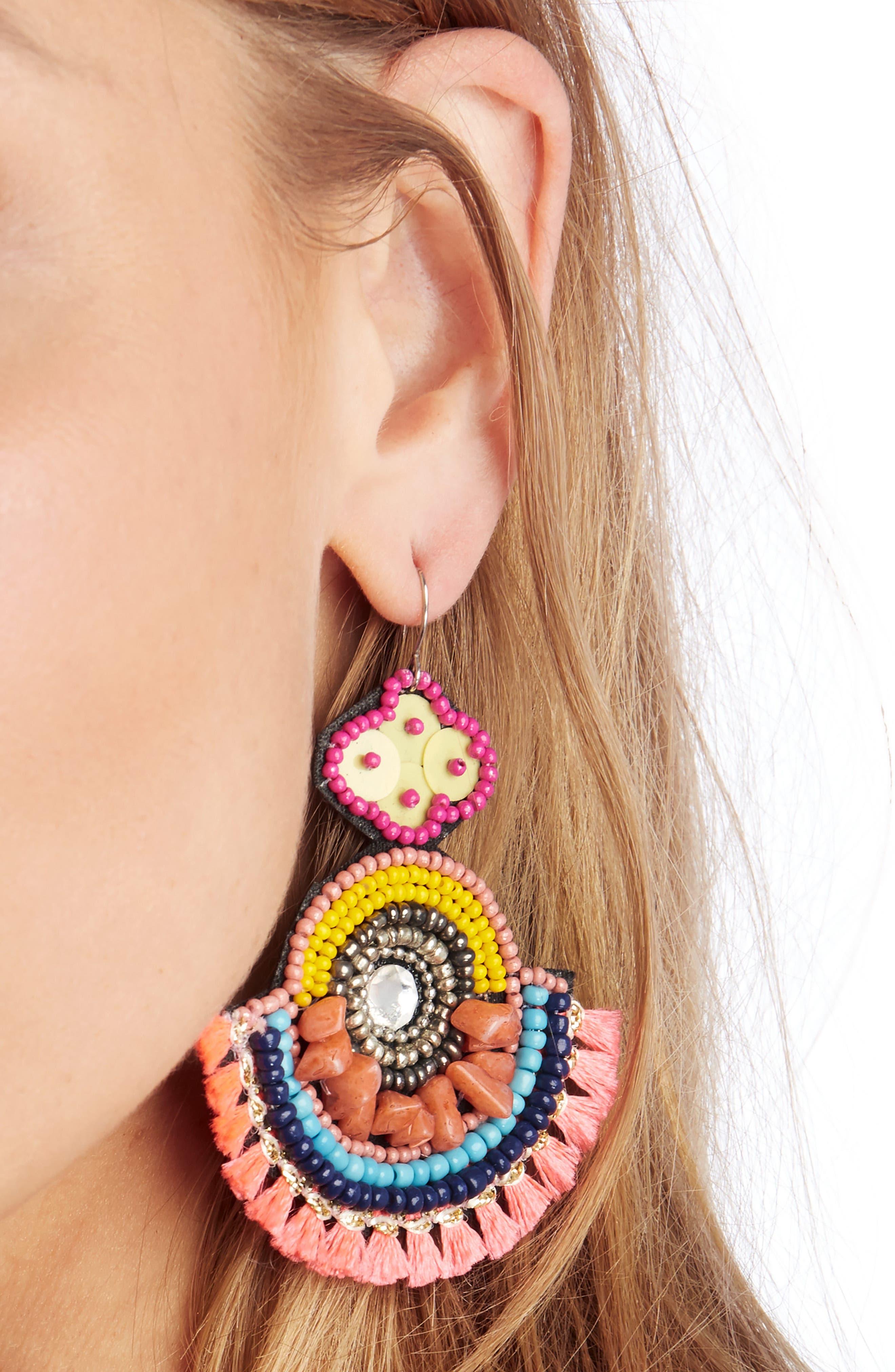 Carnivale Statement Earrings,                             Alternate thumbnail 2, color,