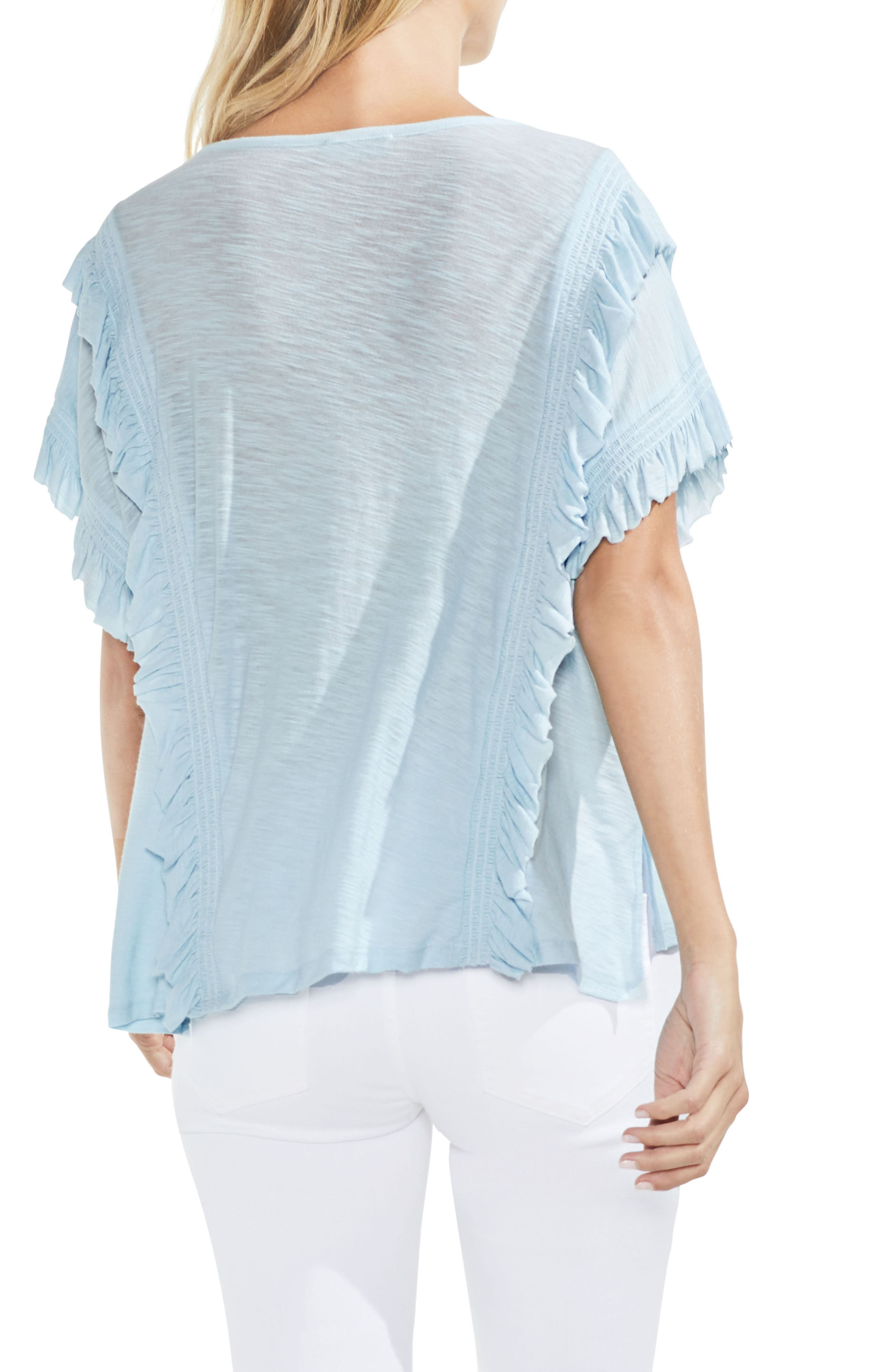 Ruffle Front Top,                             Alternate thumbnail 7, color,