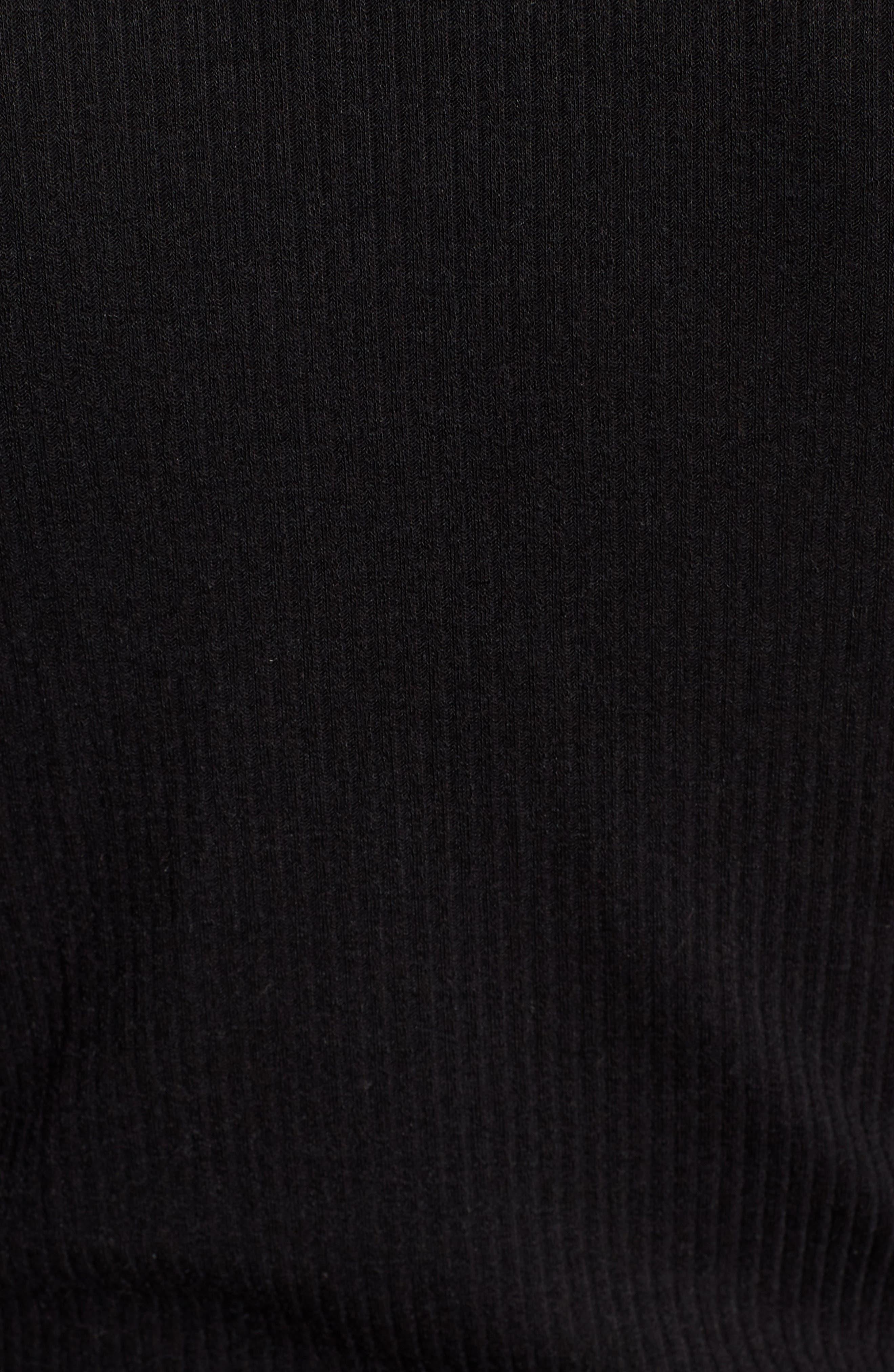 Slim Rib Long Sleeve Tee,                             Alternate thumbnail 6, color,                             001
