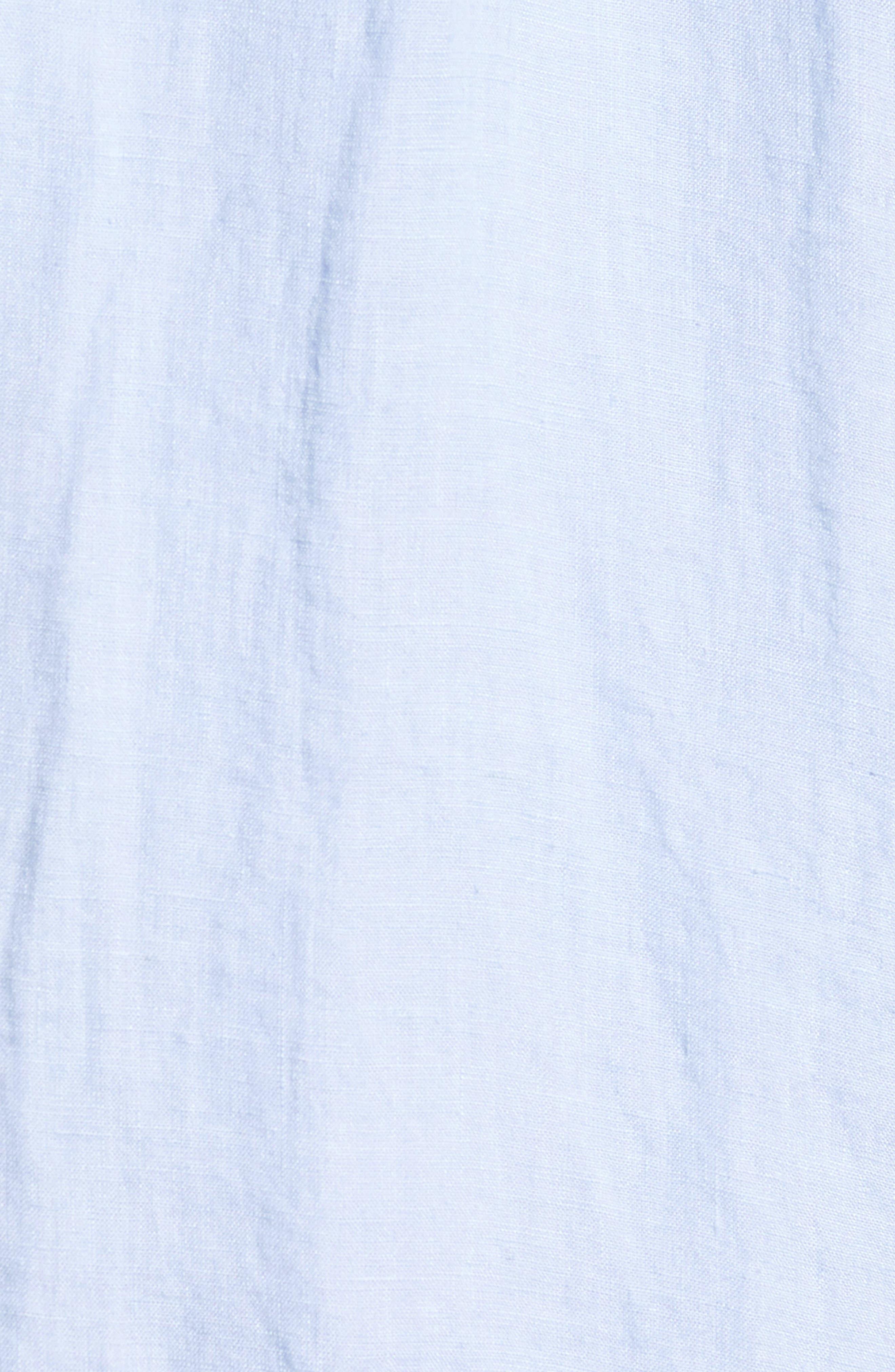 Washed Slim Fit Linen Sport Shirt,                             Alternate thumbnail 5, color,                             020