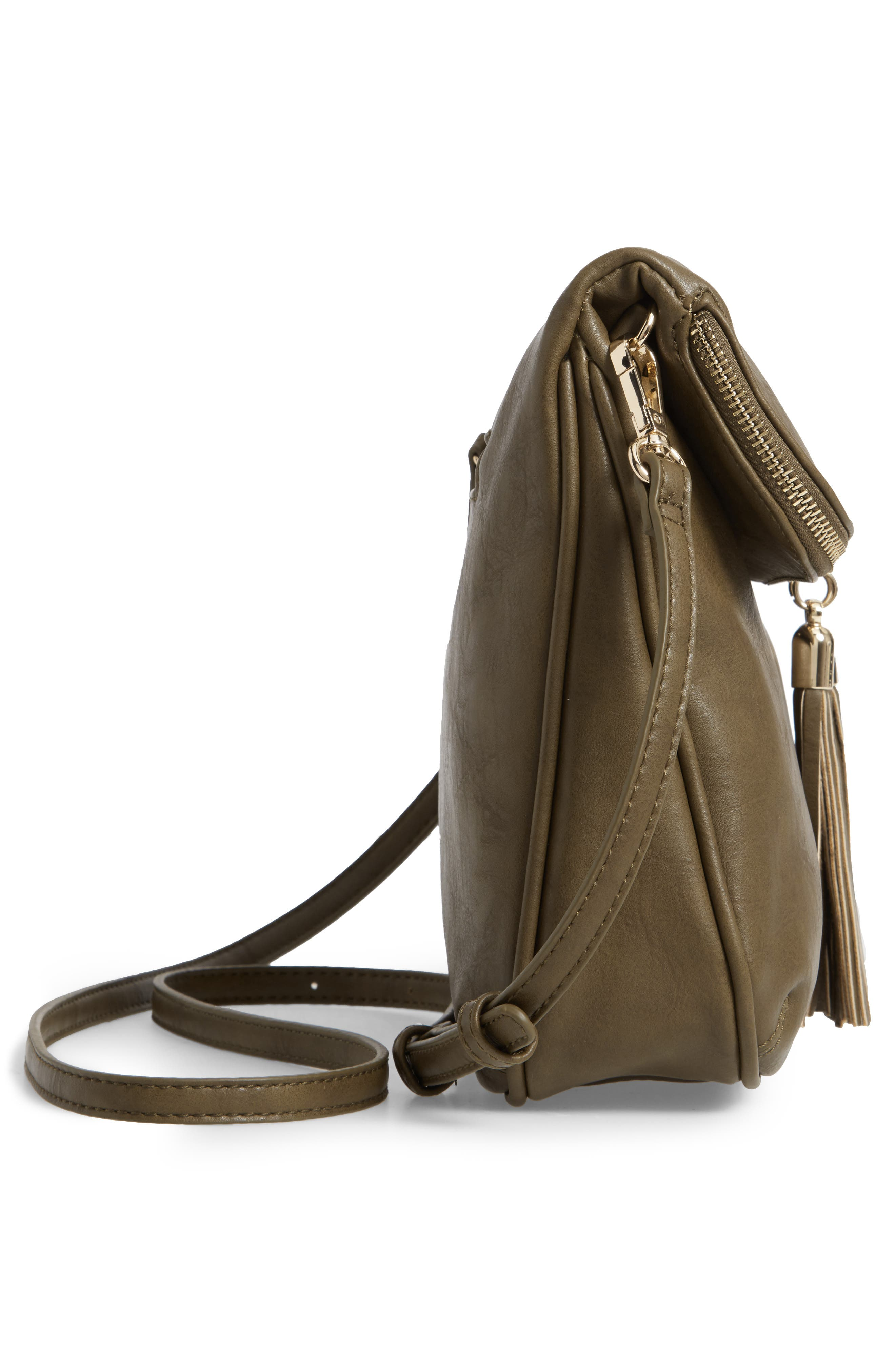 Foldover Crossbody Bag,                             Alternate thumbnail 5, color,                             320