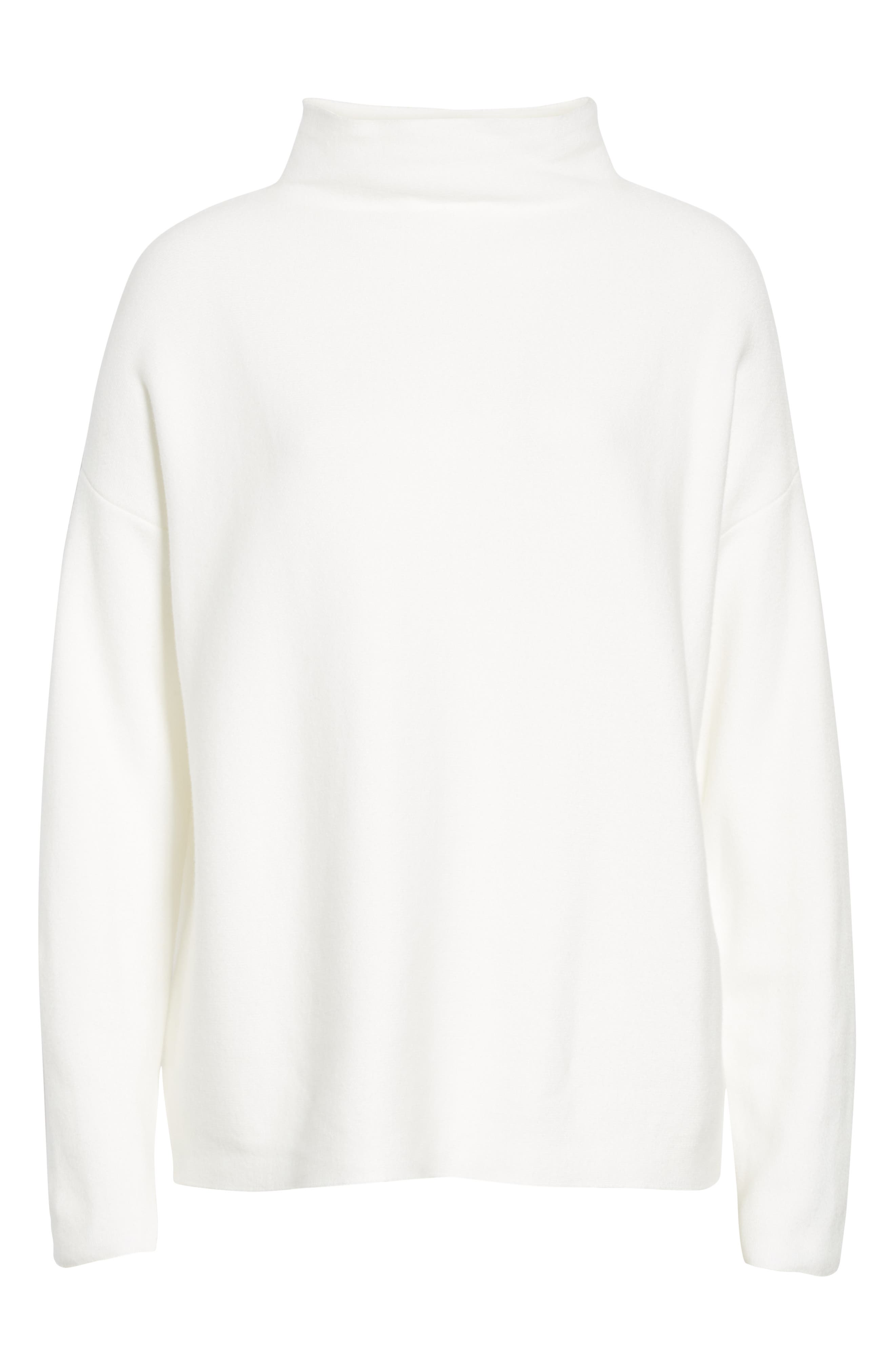 Organic Cotton Blend Sweater, Alternate, color, WHITE