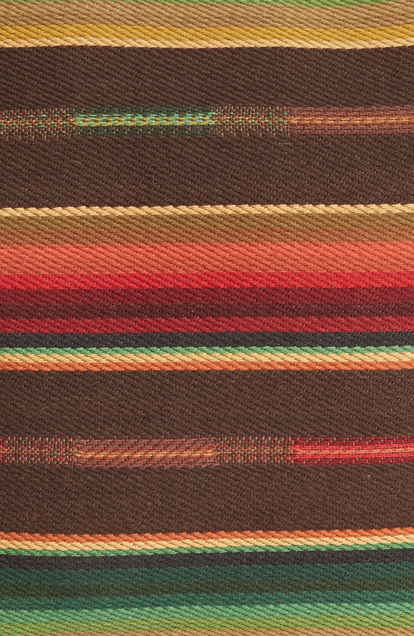 Small Sundance Serape Square Accent Pillow,                             Alternate thumbnail 3, color,                             001