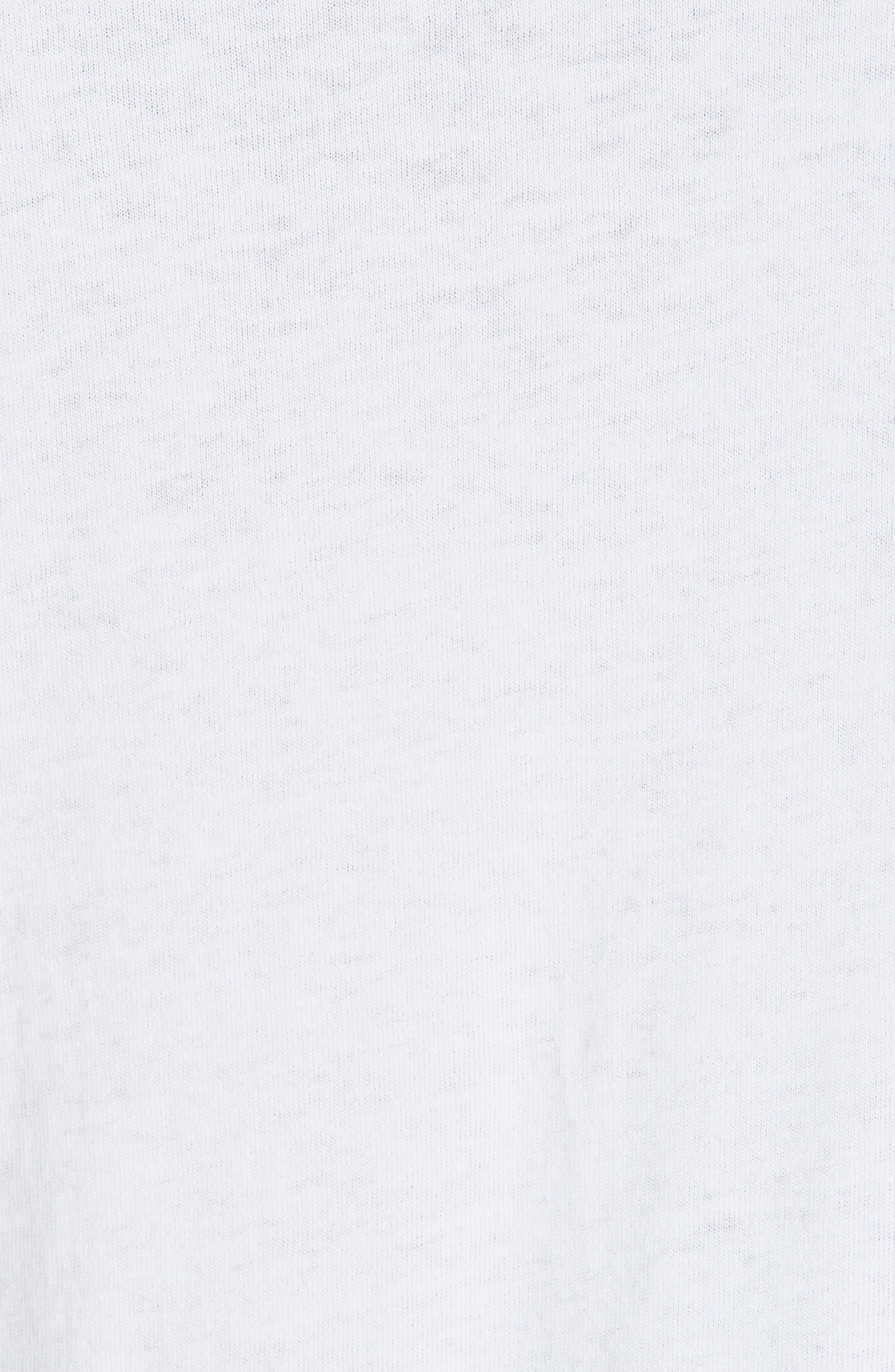 No Bomb Graphic Long Sleeve T-Shirt,                             Alternate thumbnail 5, color,                             WHITE