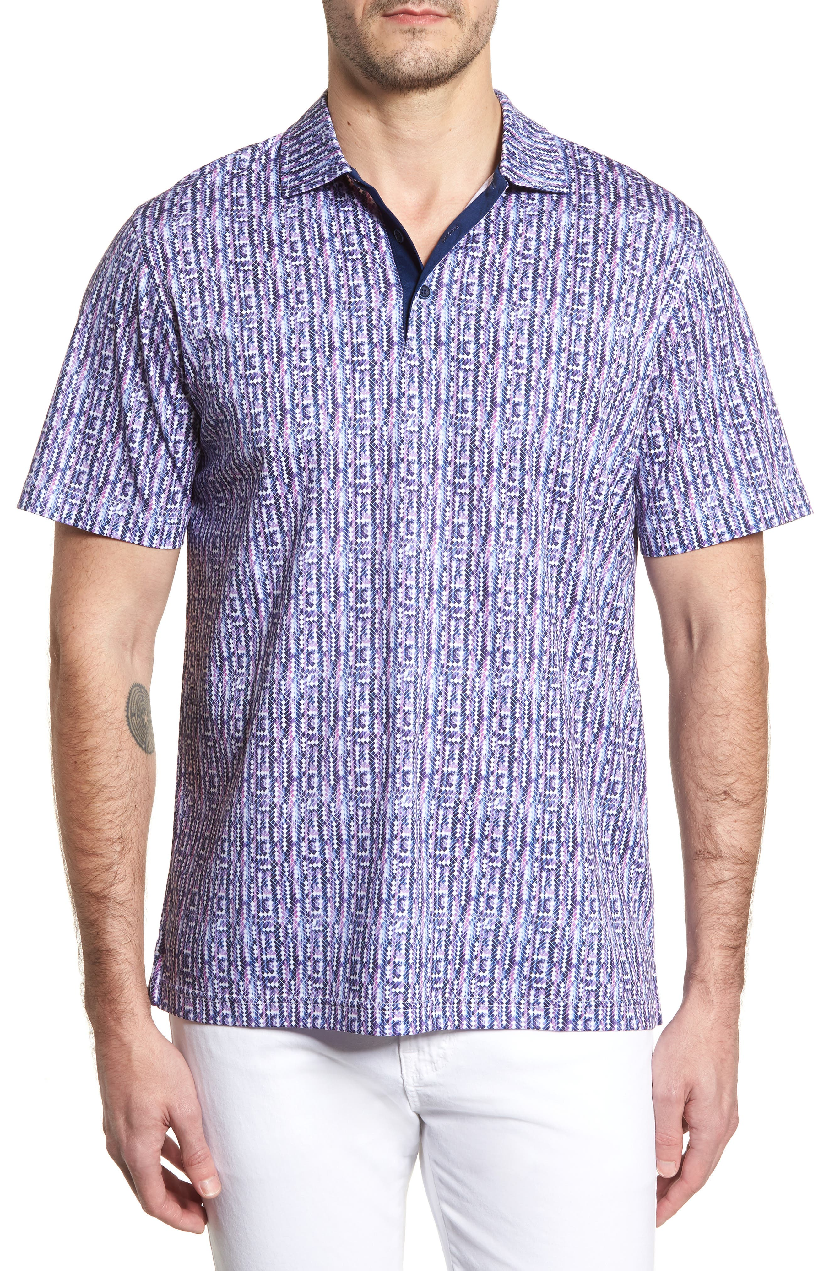 Classic Fit Print Polo,                         Main,                         color, 513