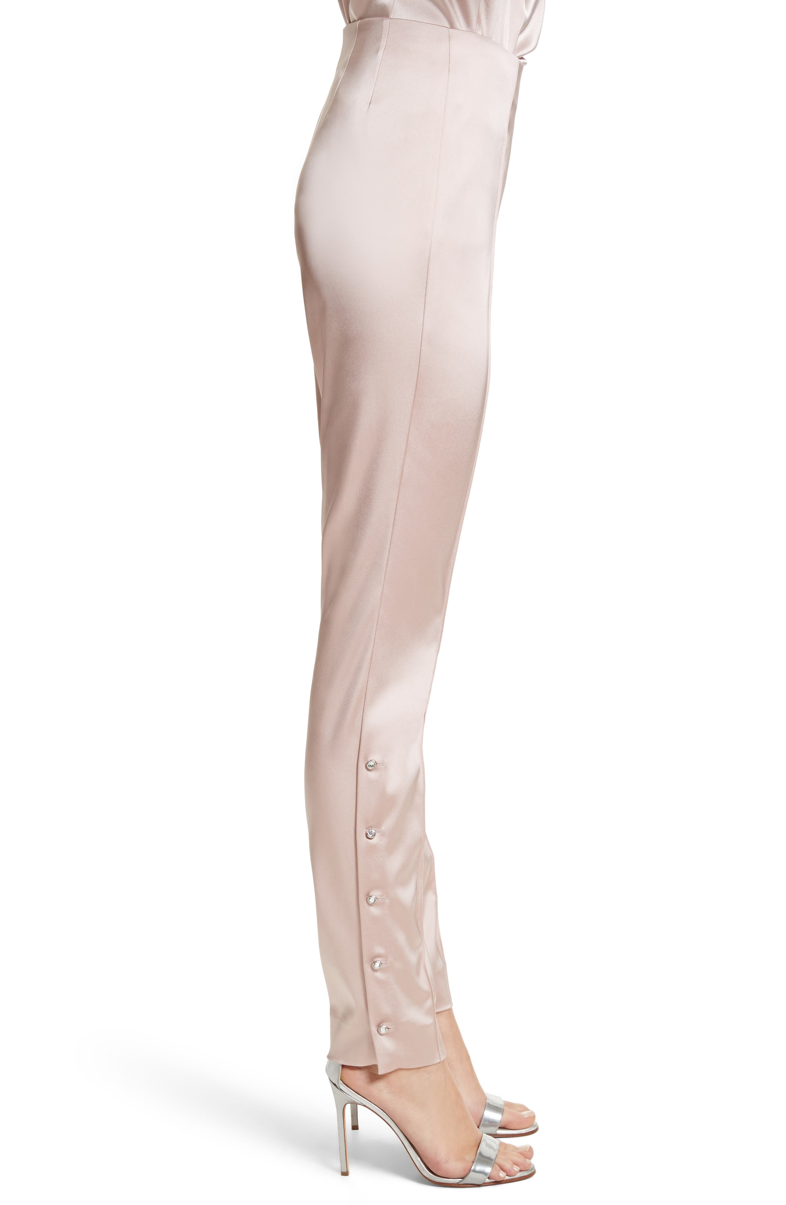Stretch Satin Ankle Pants,                             Alternate thumbnail 3, color,                             680