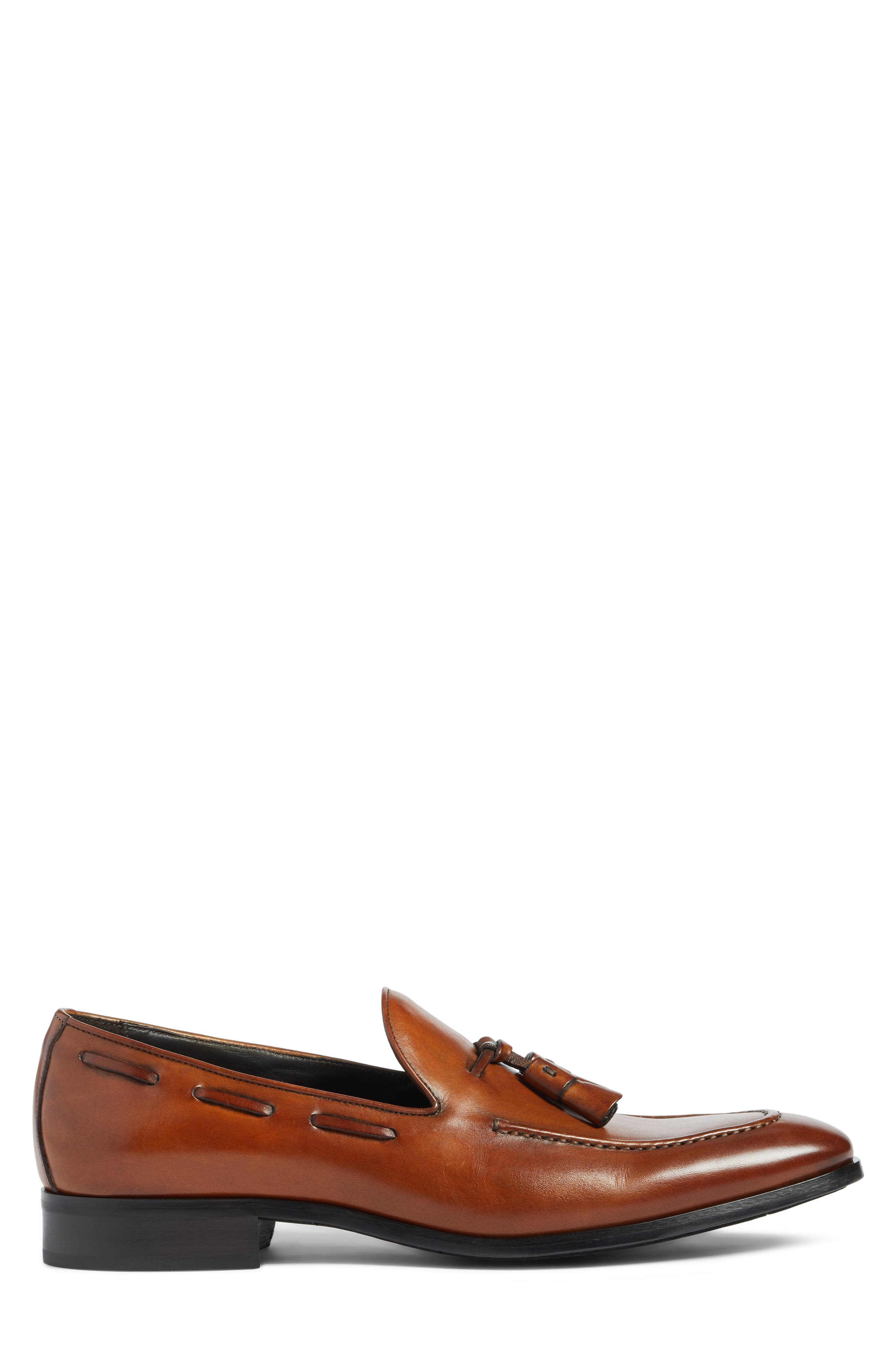 Barclay Tassel Loafer,                             Alternate thumbnail 3, color,                             COGNAC LEATHER