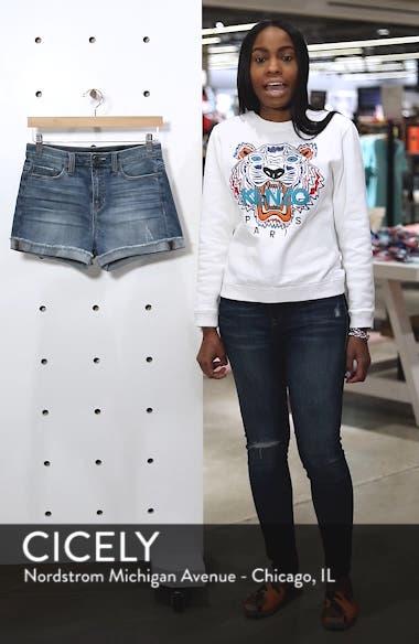 Cuffed Boyfriend Denim Shorts, sales video thumbnail