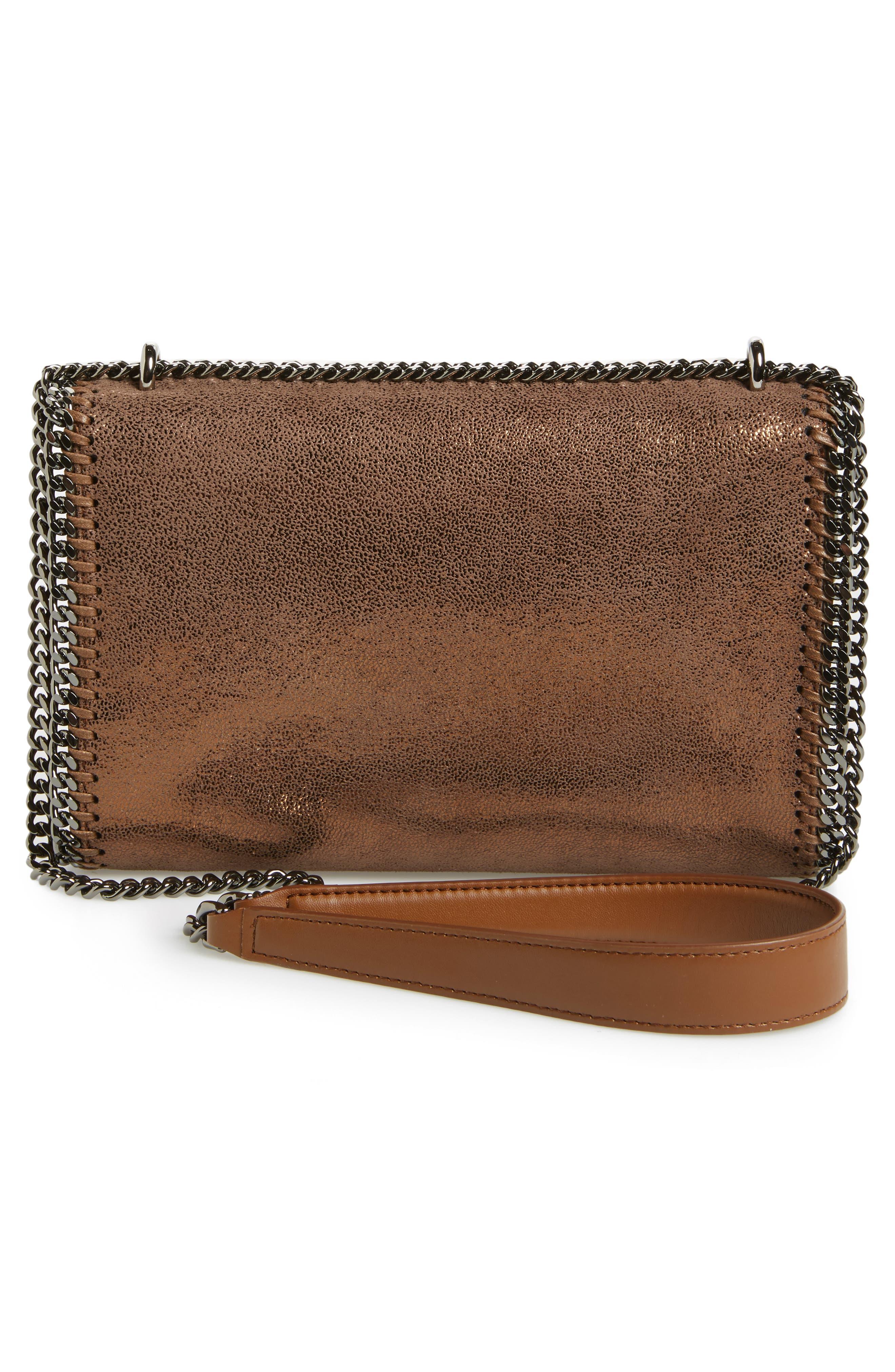 Falabella Metallic Faux Leather Convertible Shoulder Bag,                             Alternate thumbnail 3, color,                             200