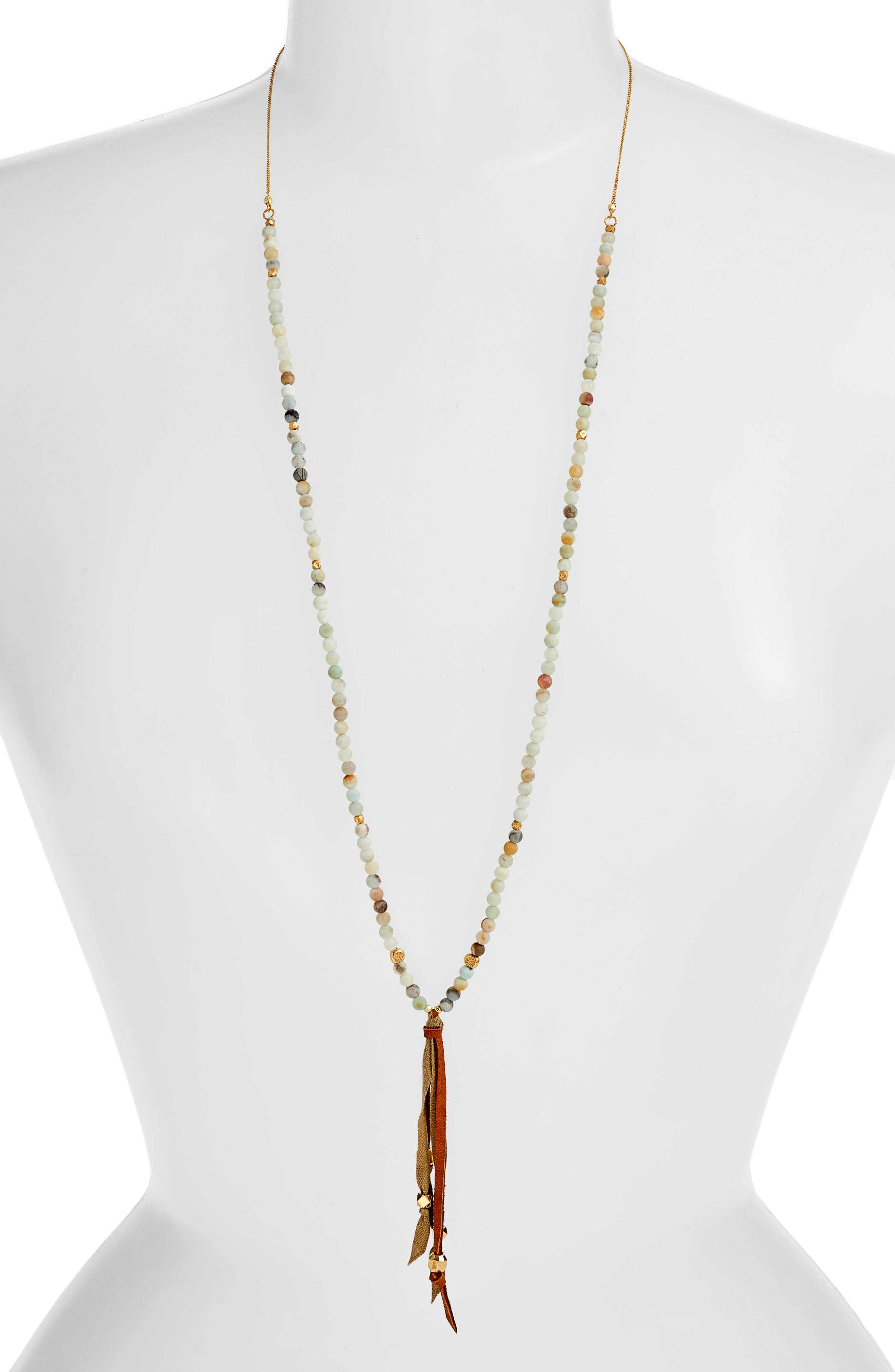 Redesign Tassel Pendant Beaded Necklace,                             Main thumbnail 1, color,                             MATTE MULTI