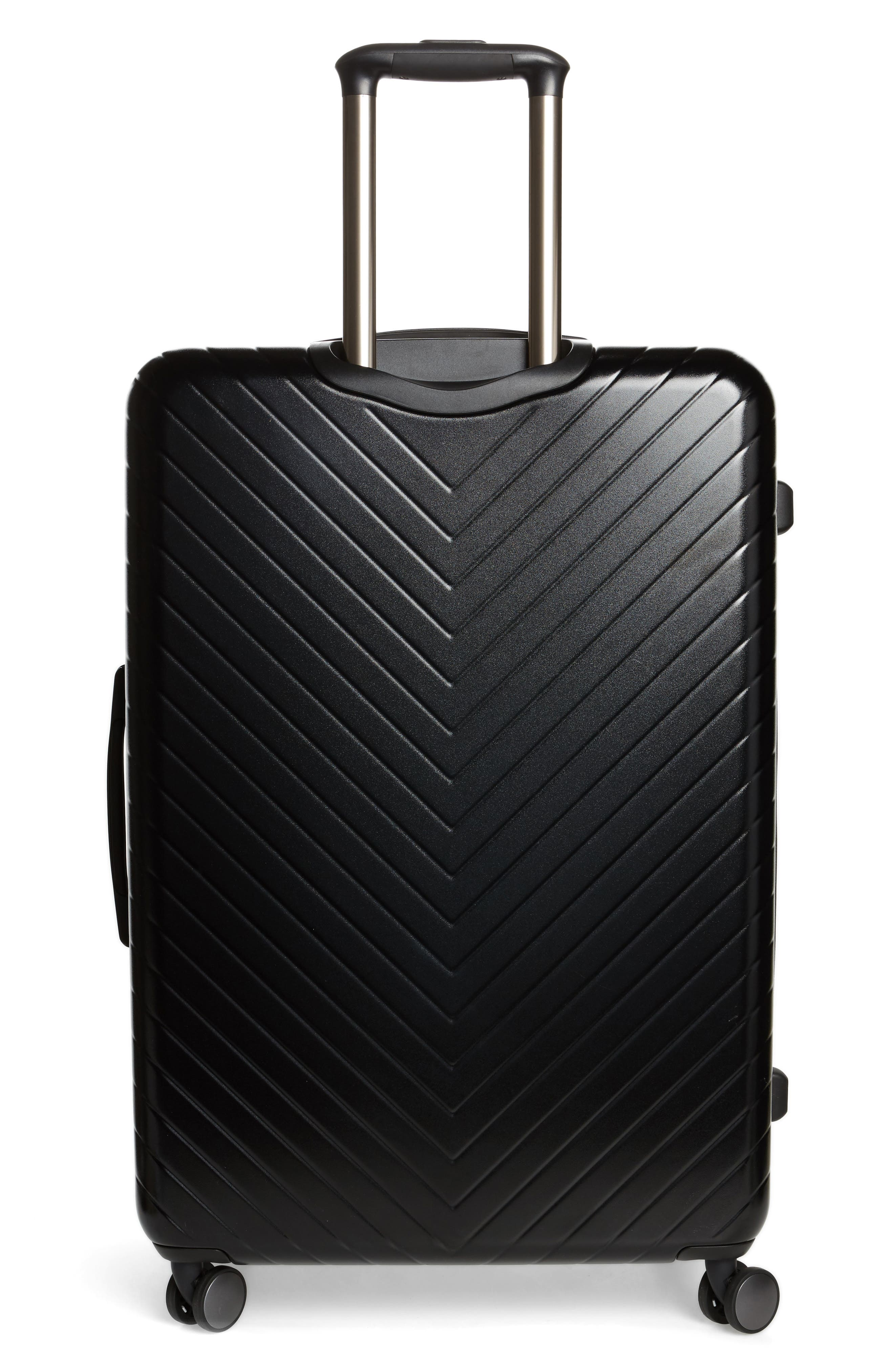 Chevron 29-Inch Spinner Suitcase,                             Alternate thumbnail 4, color,                             BLACK