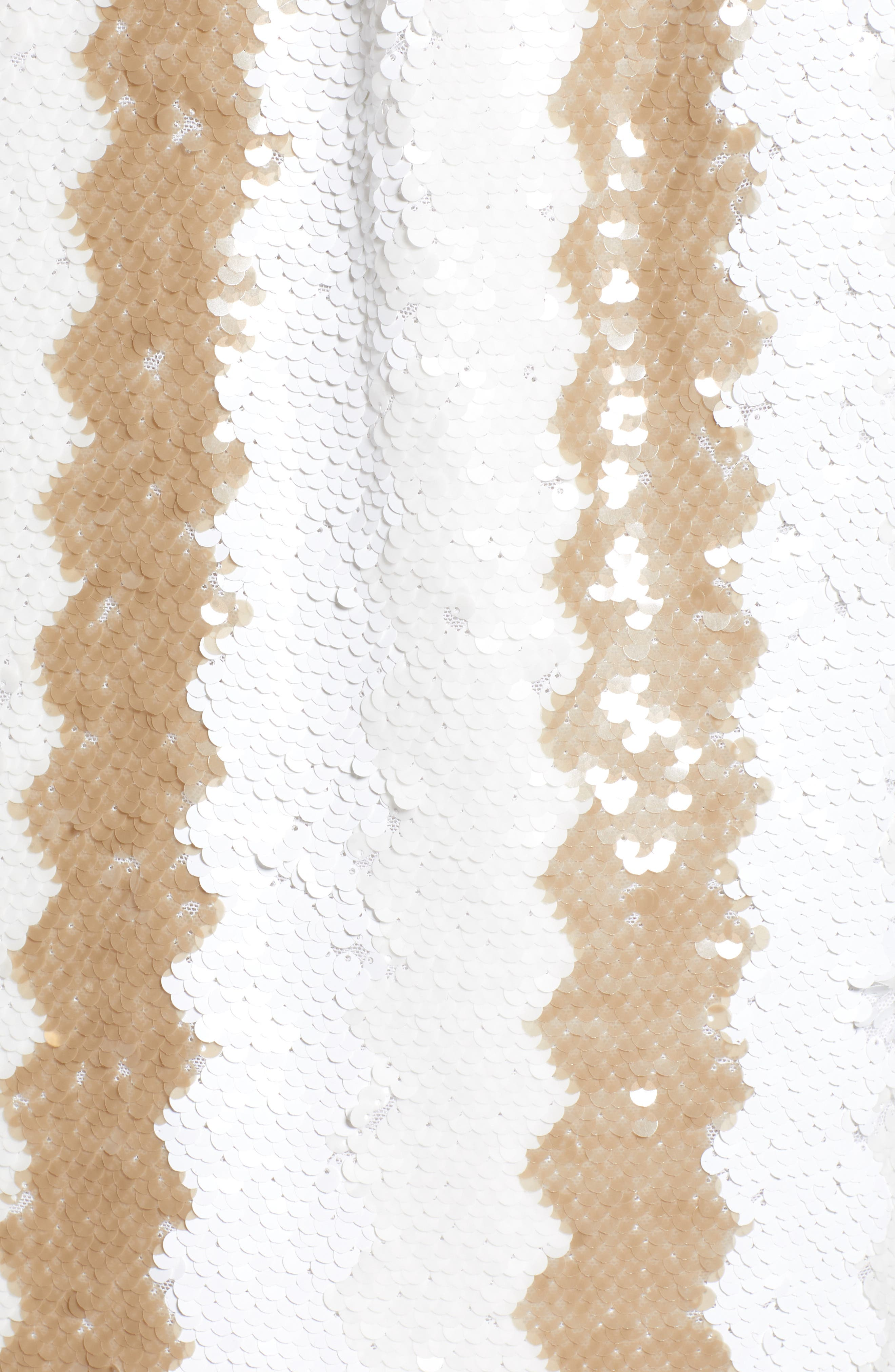 Sequin Pencil Skirt,                             Alternate thumbnail 5, color,                             100