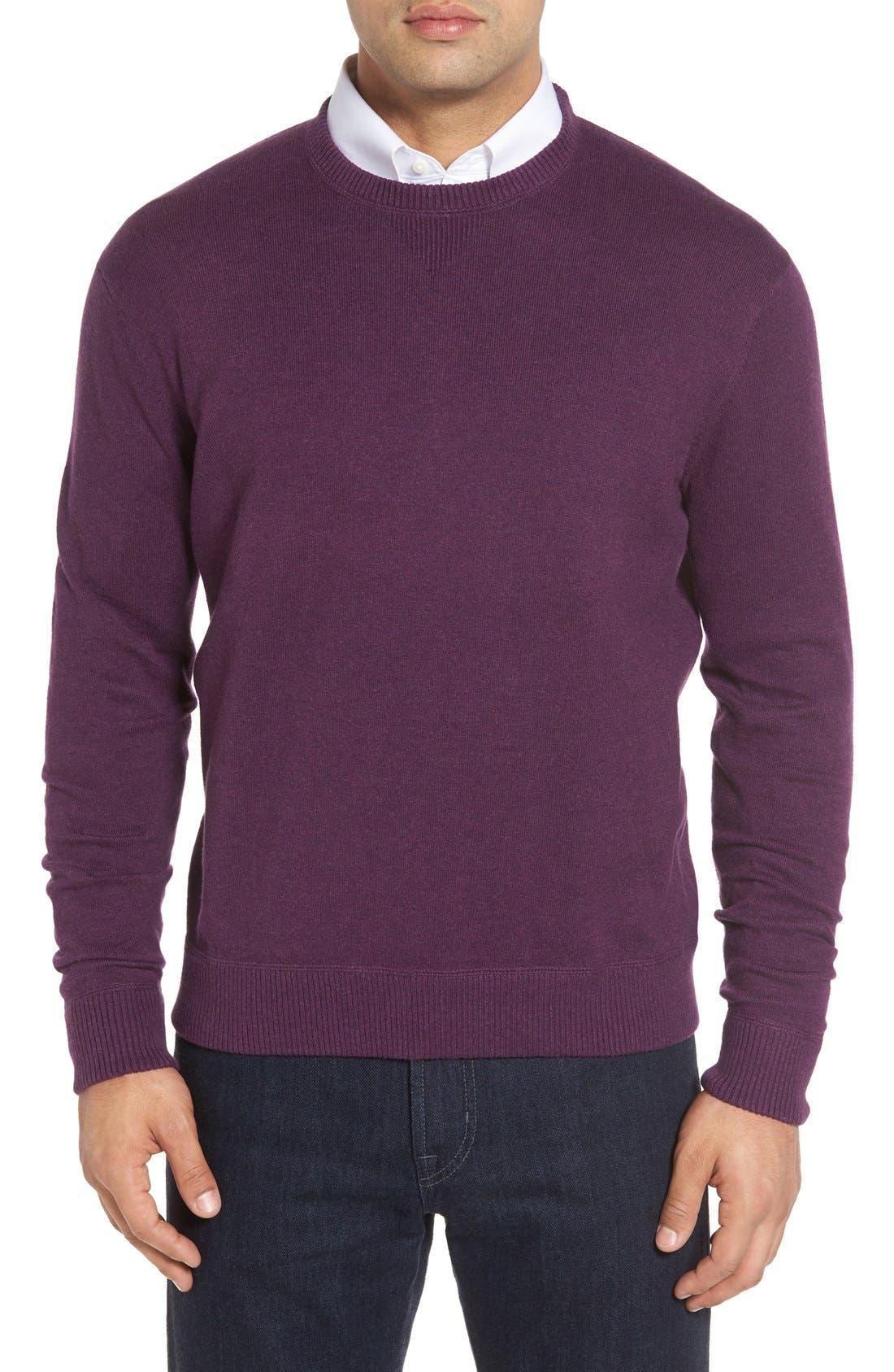 'Jersey Sport' Cotton Blend Crewneck Sweater,                             Main thumbnail 6, color,