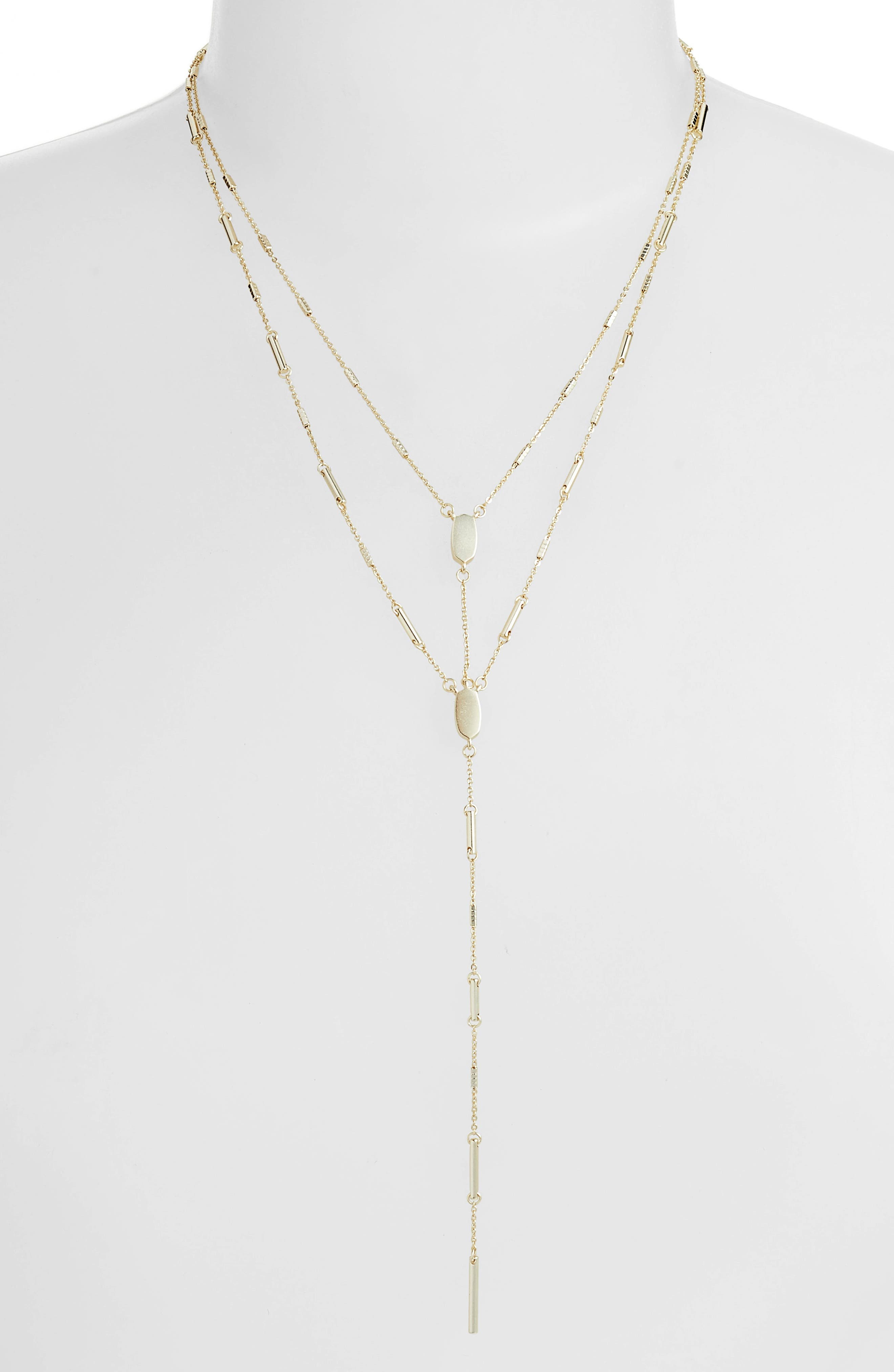 Adelia Multistrand Y-Necklace,                             Main thumbnail 1, color,                             GOLD