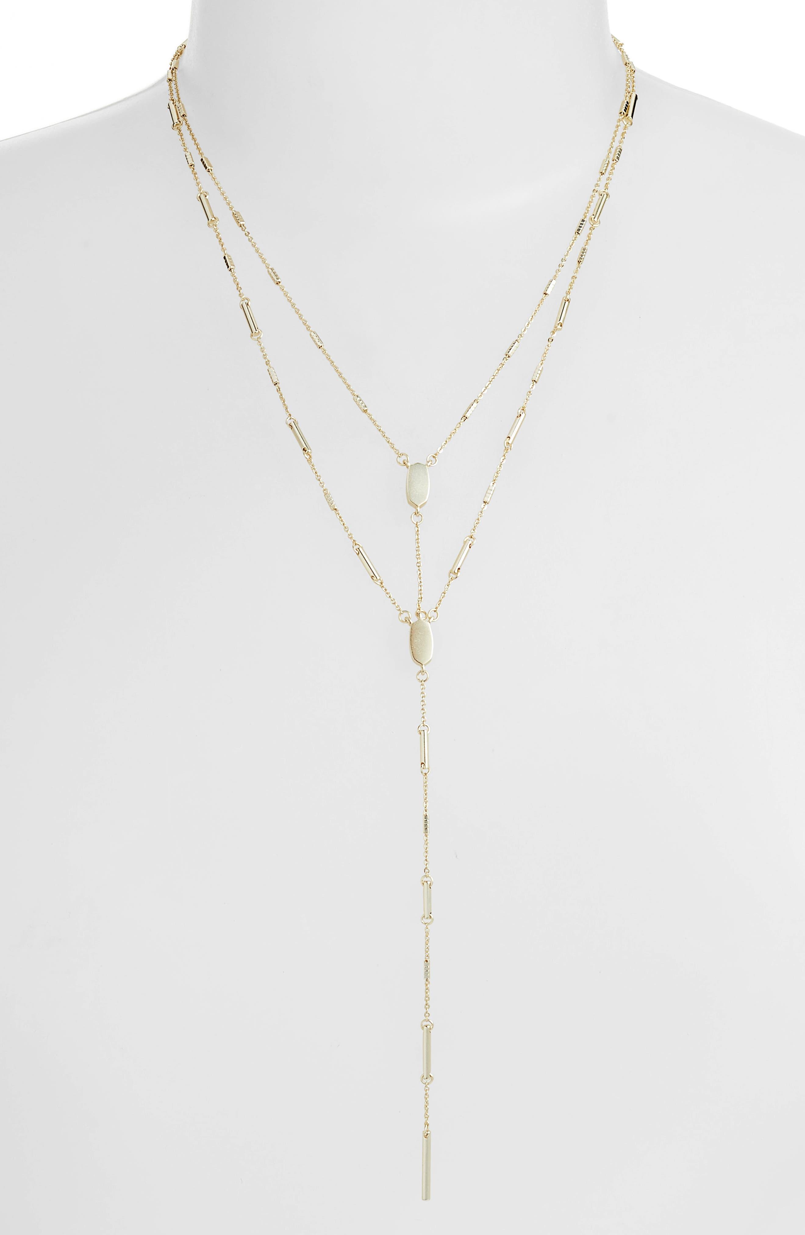 Adelia Multistrand Y-Necklace,                         Main,                         color, GOLD