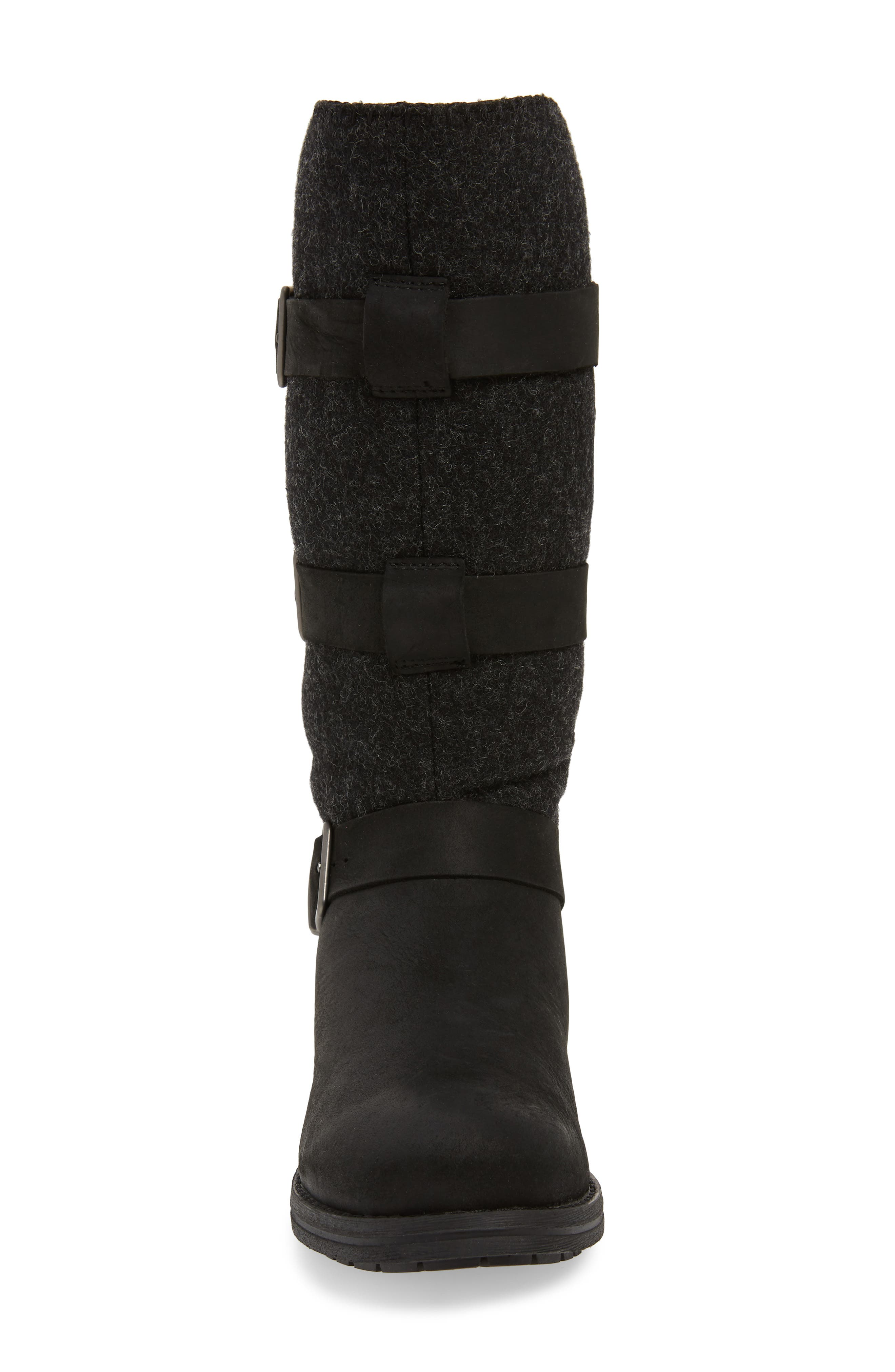 Frontier Boot,                             Alternate thumbnail 4, color,                             BLACK LEATHER