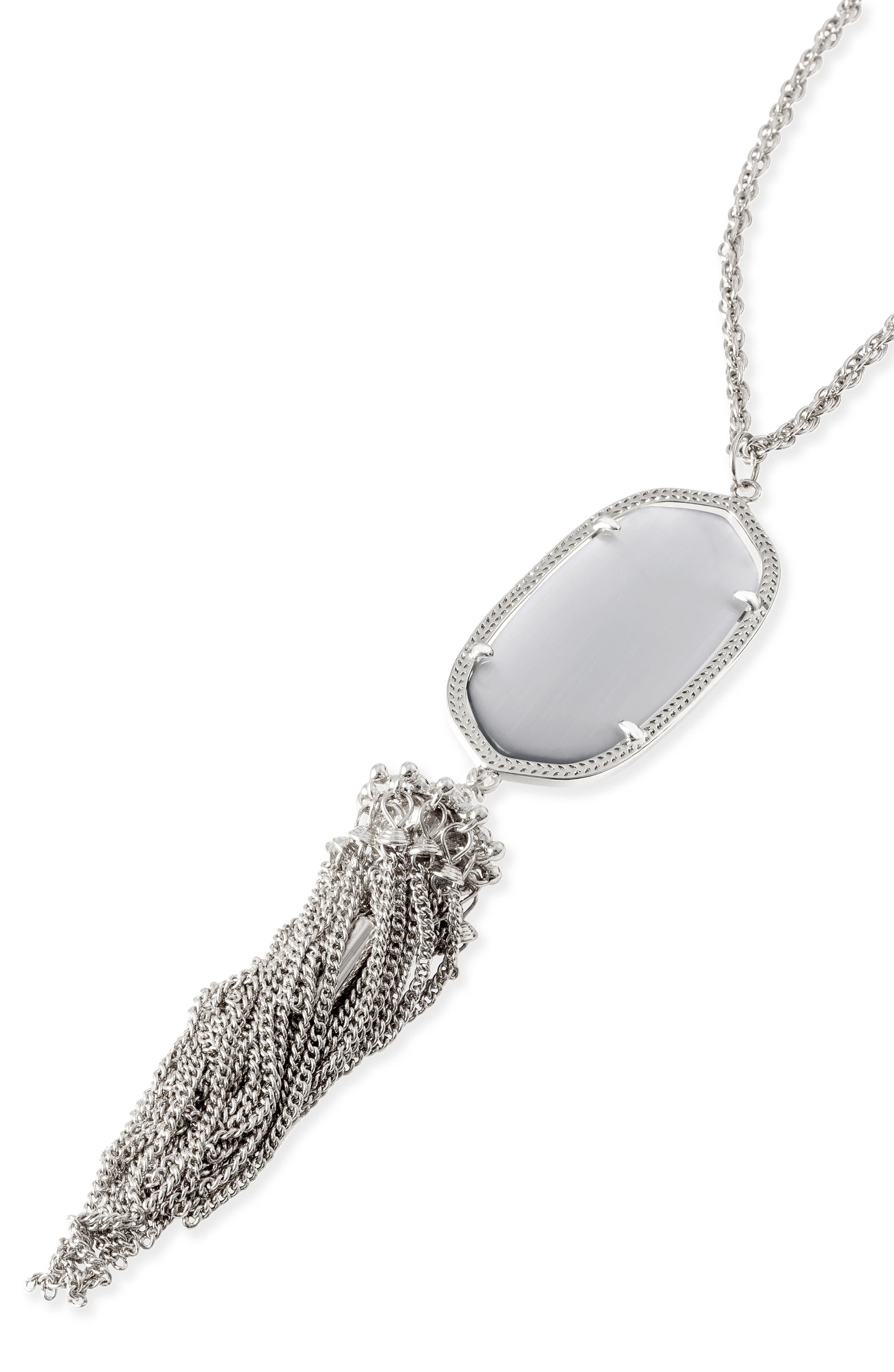 Rayne Stone Tassel Pendant Necklace,                             Alternate thumbnail 260, color,