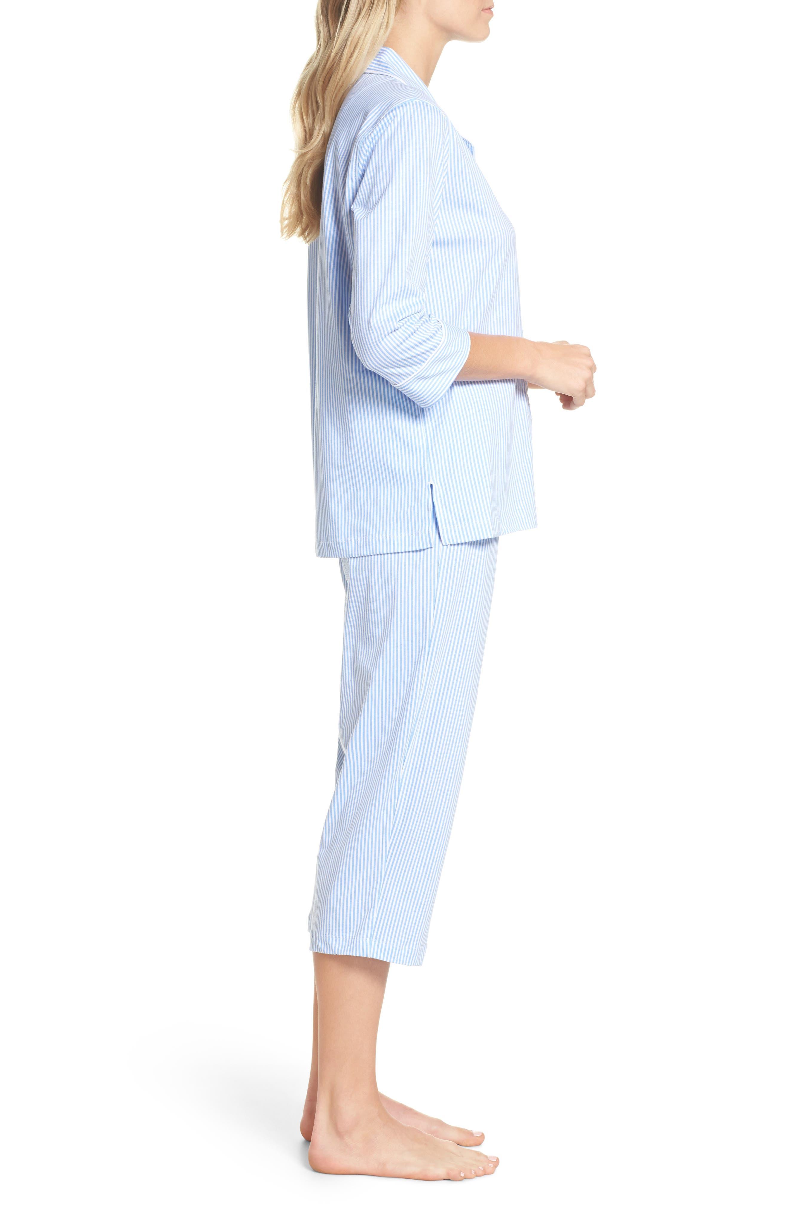 Knit Crop Pajamas,                             Alternate thumbnail 22, color,