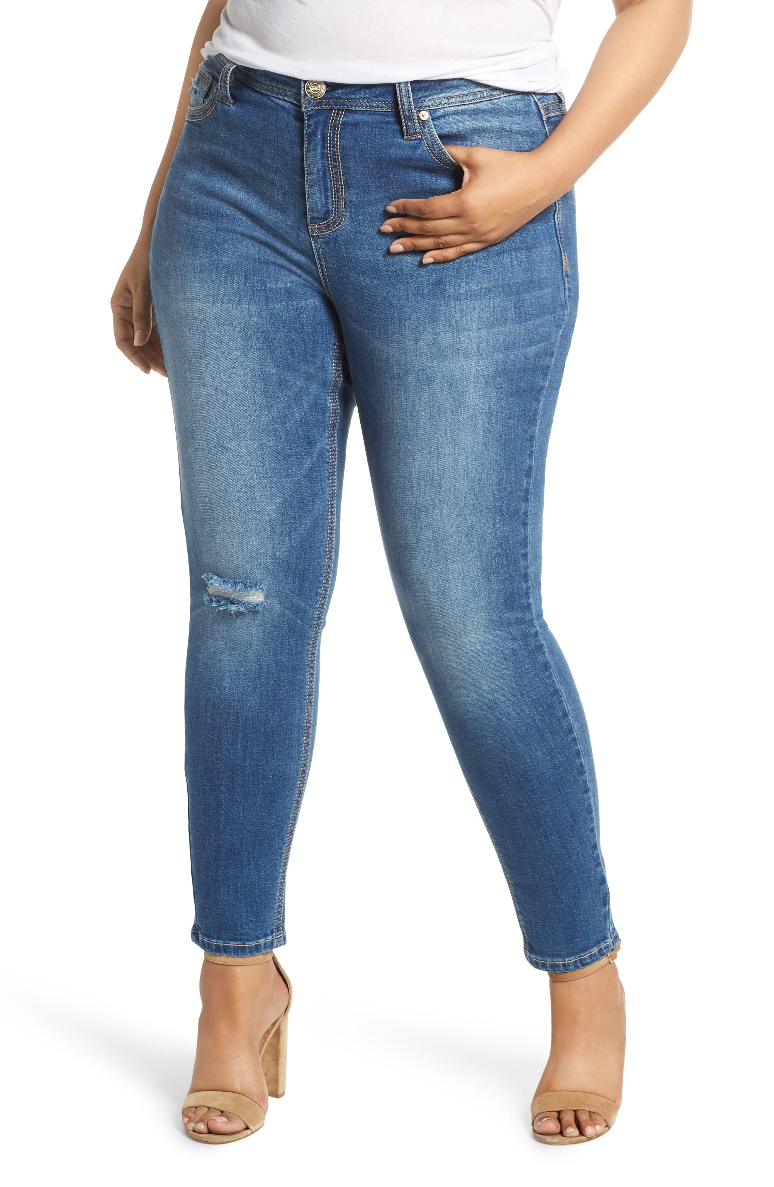 Rocker Skinny Jeans,                             Main thumbnail 1, color,                             LADYBIRD