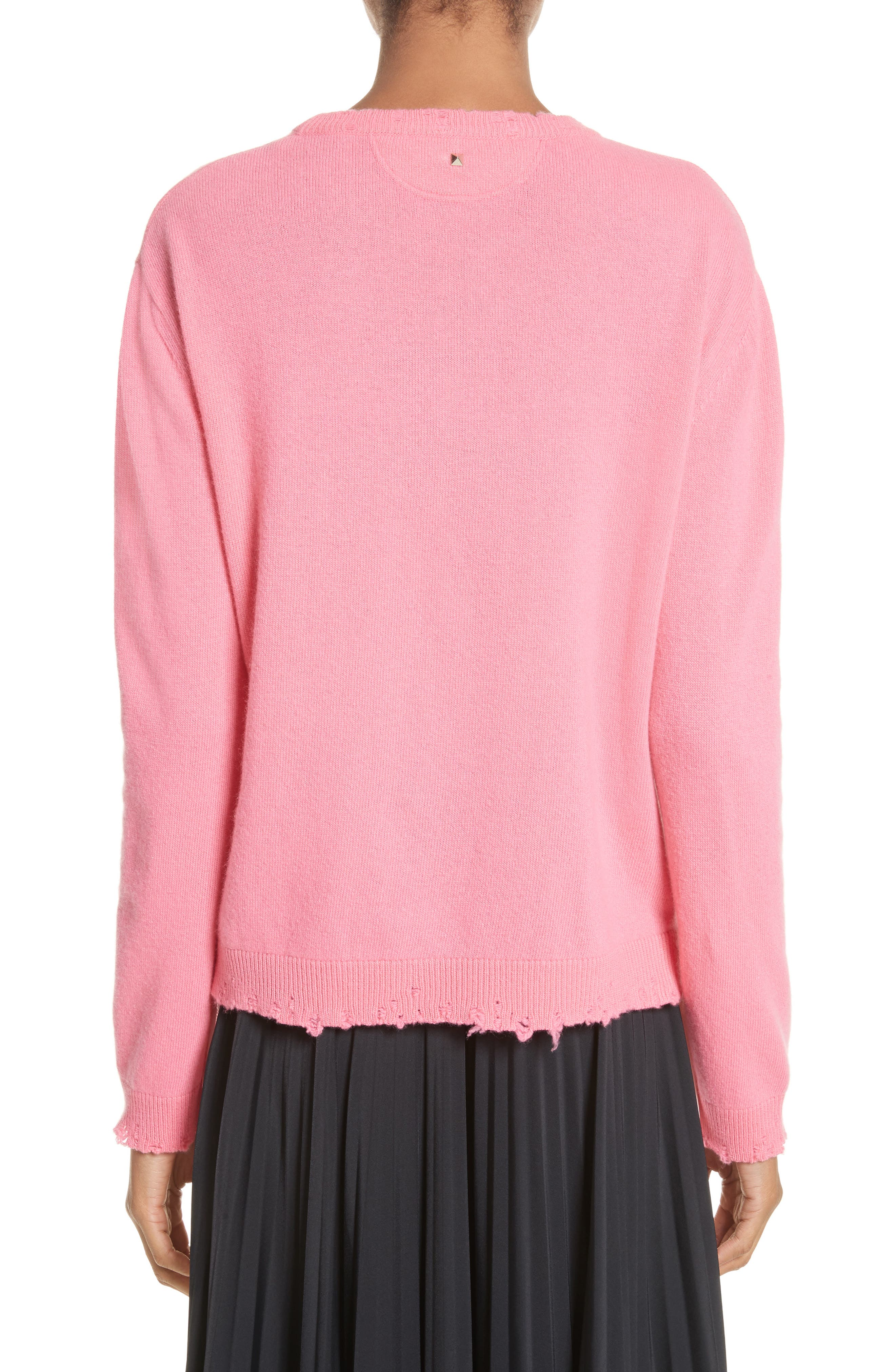Pink Is Punk Wool & Cashmere Sweater,                             Alternate thumbnail 2, color,                             664