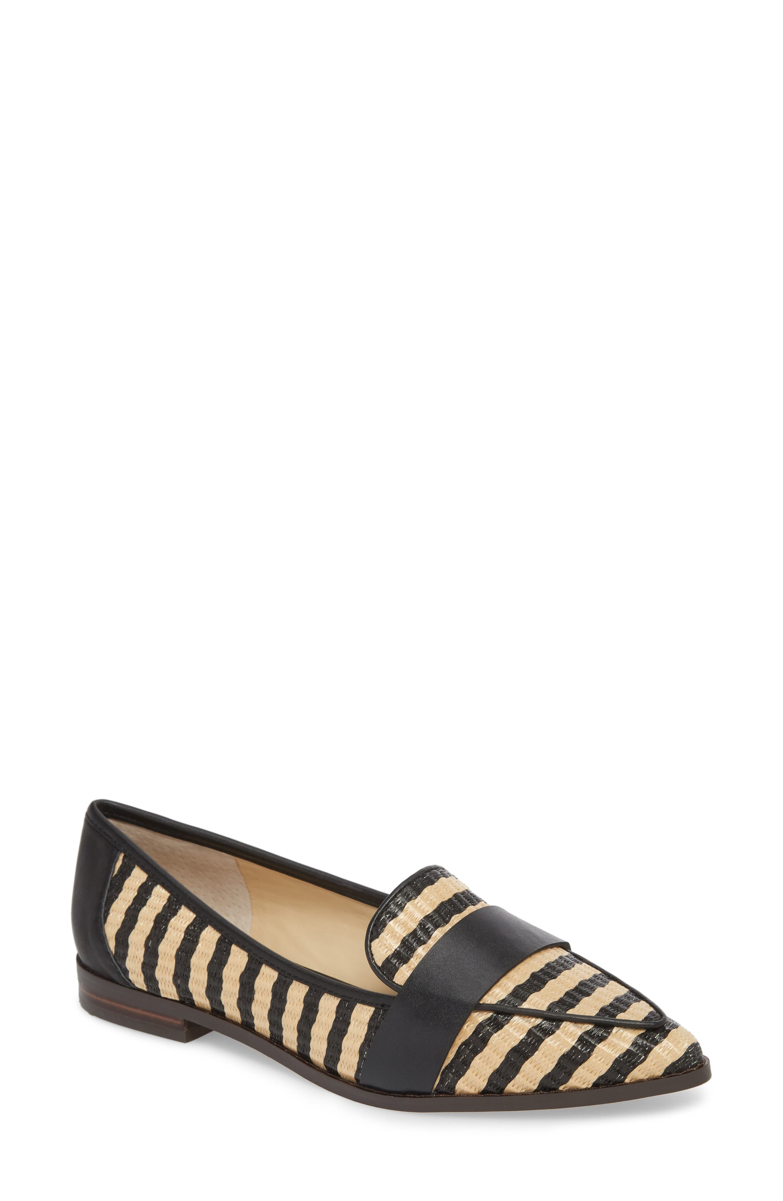 SOLE SOCIETY Edie Loafer, Main, color, NATURAL/ BLACK