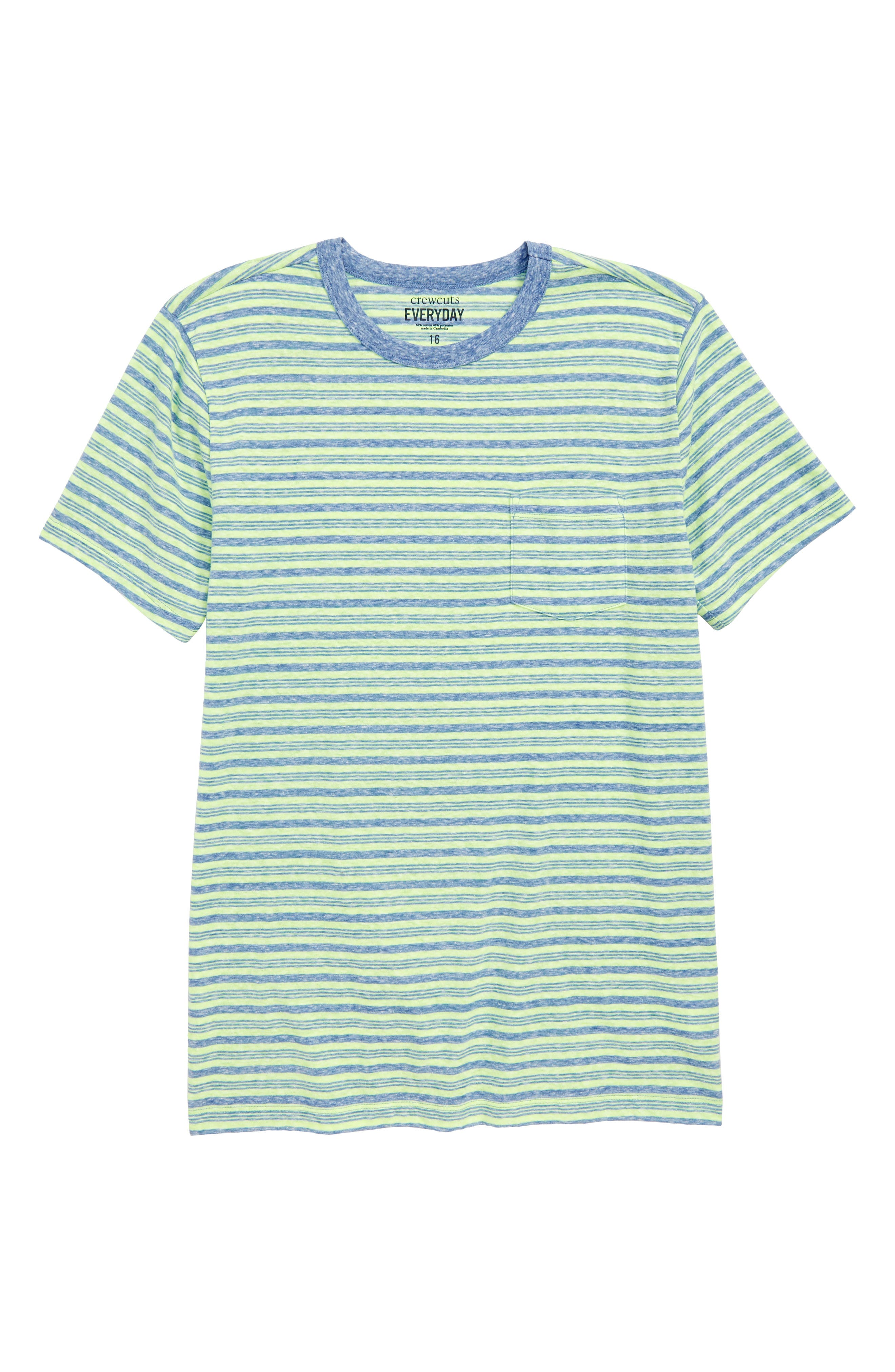 Stripe Jersey T-Shirt,                             Main thumbnail 1, color,                             LEMON LAGOON