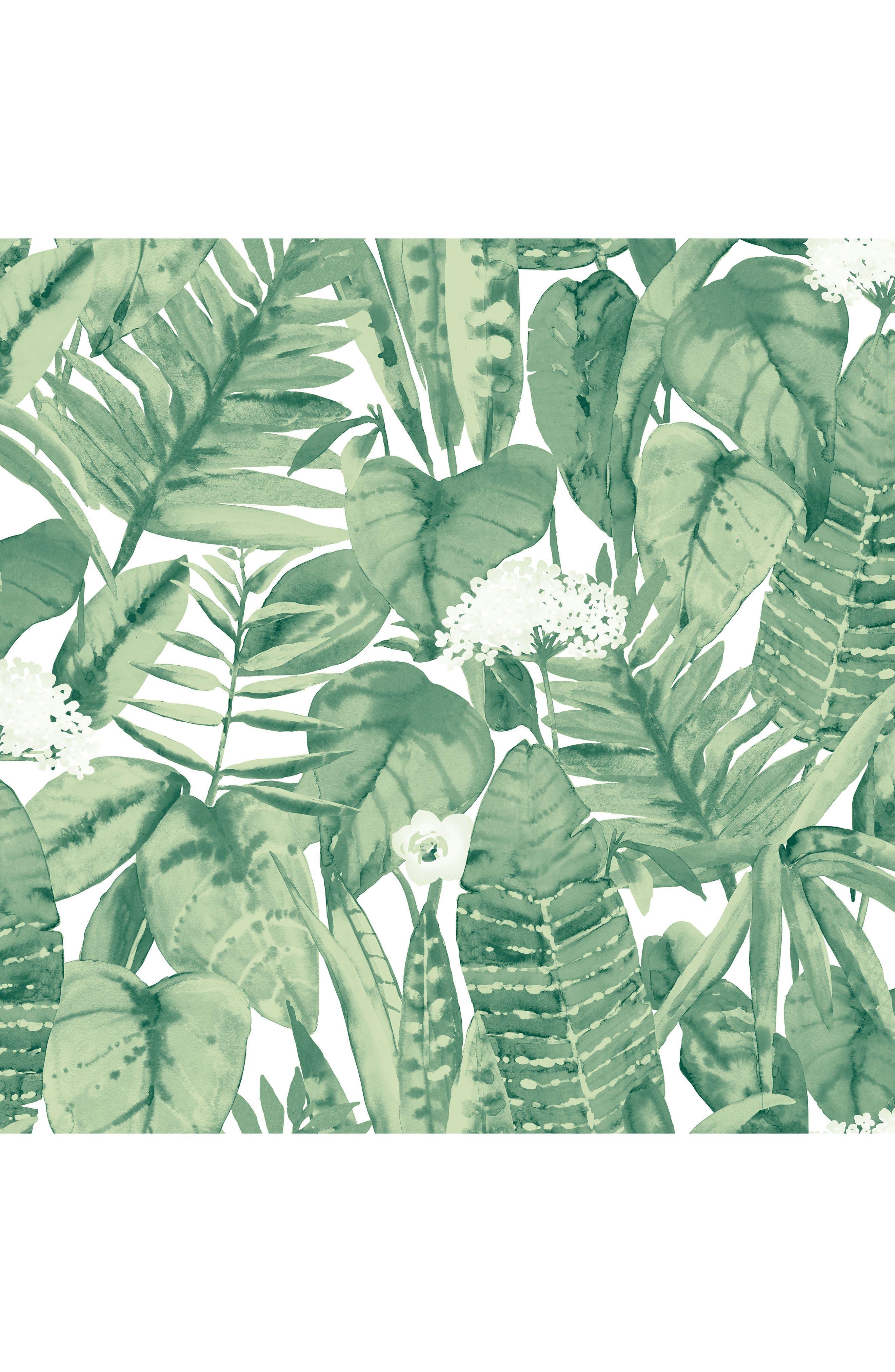 Tropical Self-Adhesive Vinyl Wallpaper,                             Main thumbnail 1, color,                             300