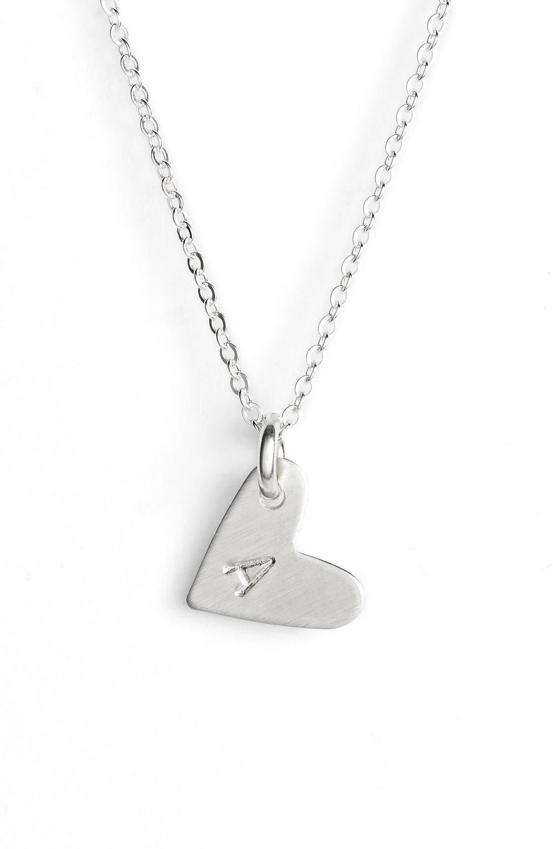 Initial Heart Pendant Necklace,                         Main,                         color, 040
