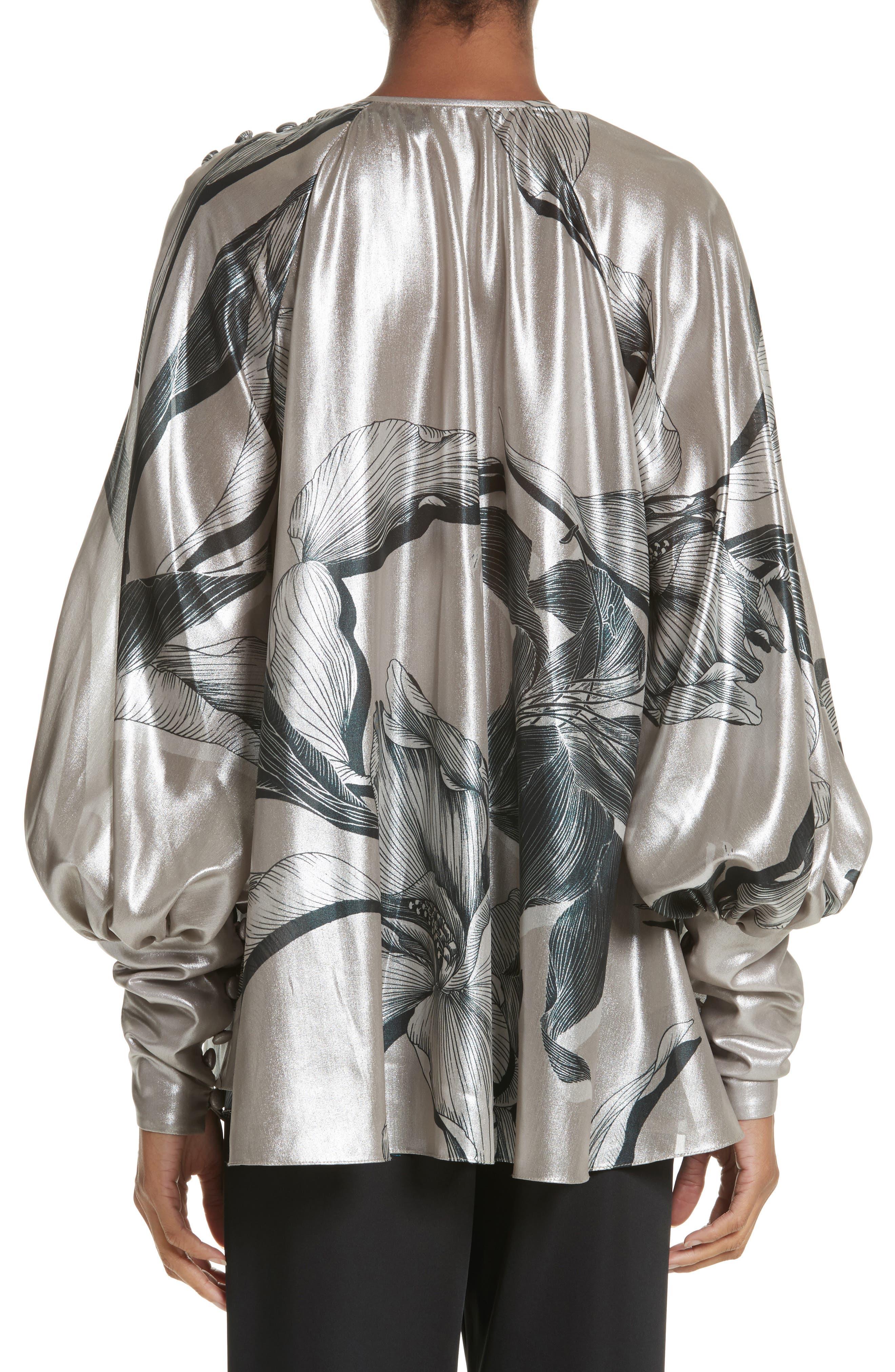 Iris Satin Silk Blend Drape Top,                             Alternate thumbnail 2, color,                             220