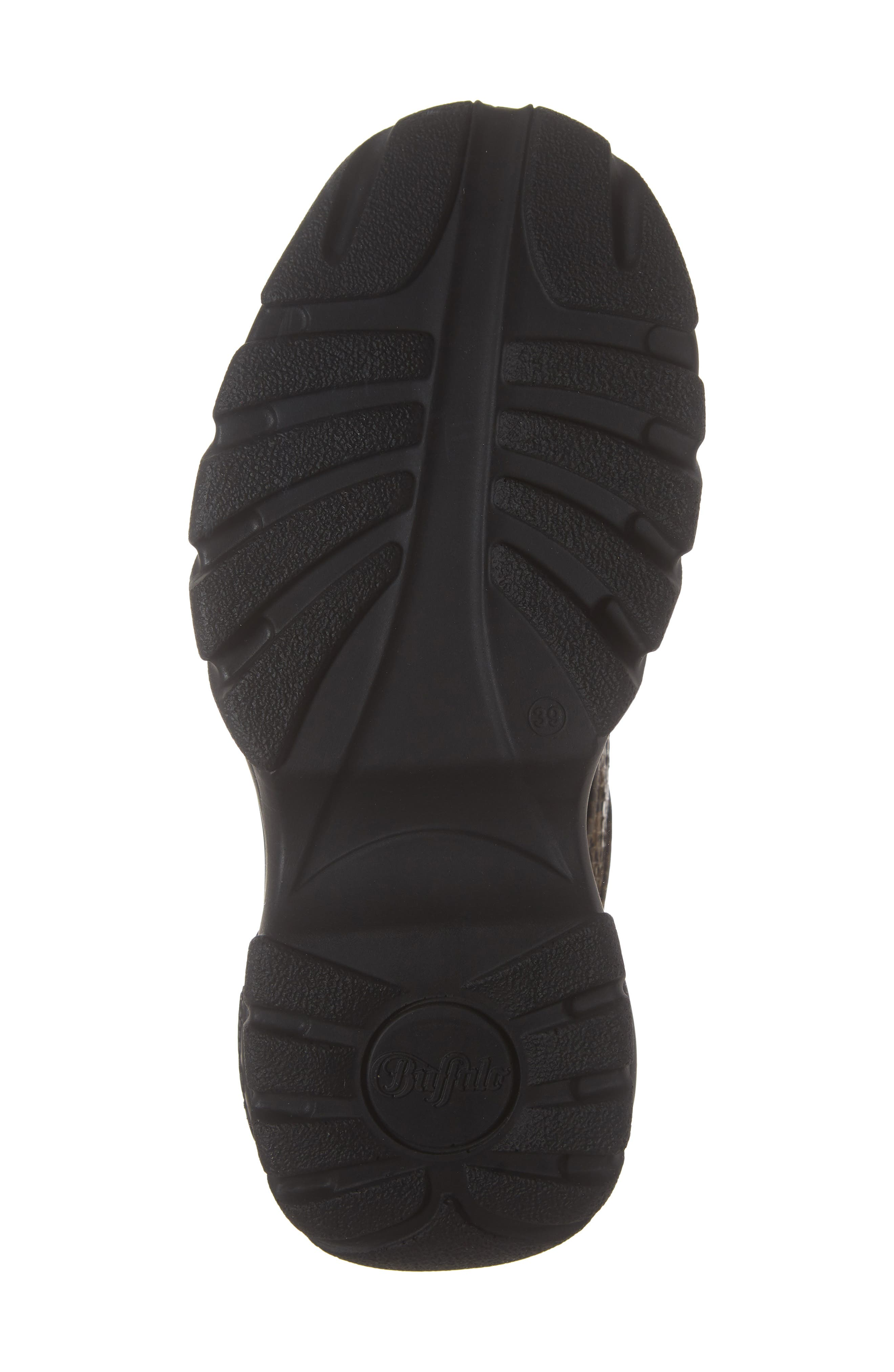 x Buffalo London Python Print Platform Sneaker,                             Alternate thumbnail 6, color,                             BEIGE