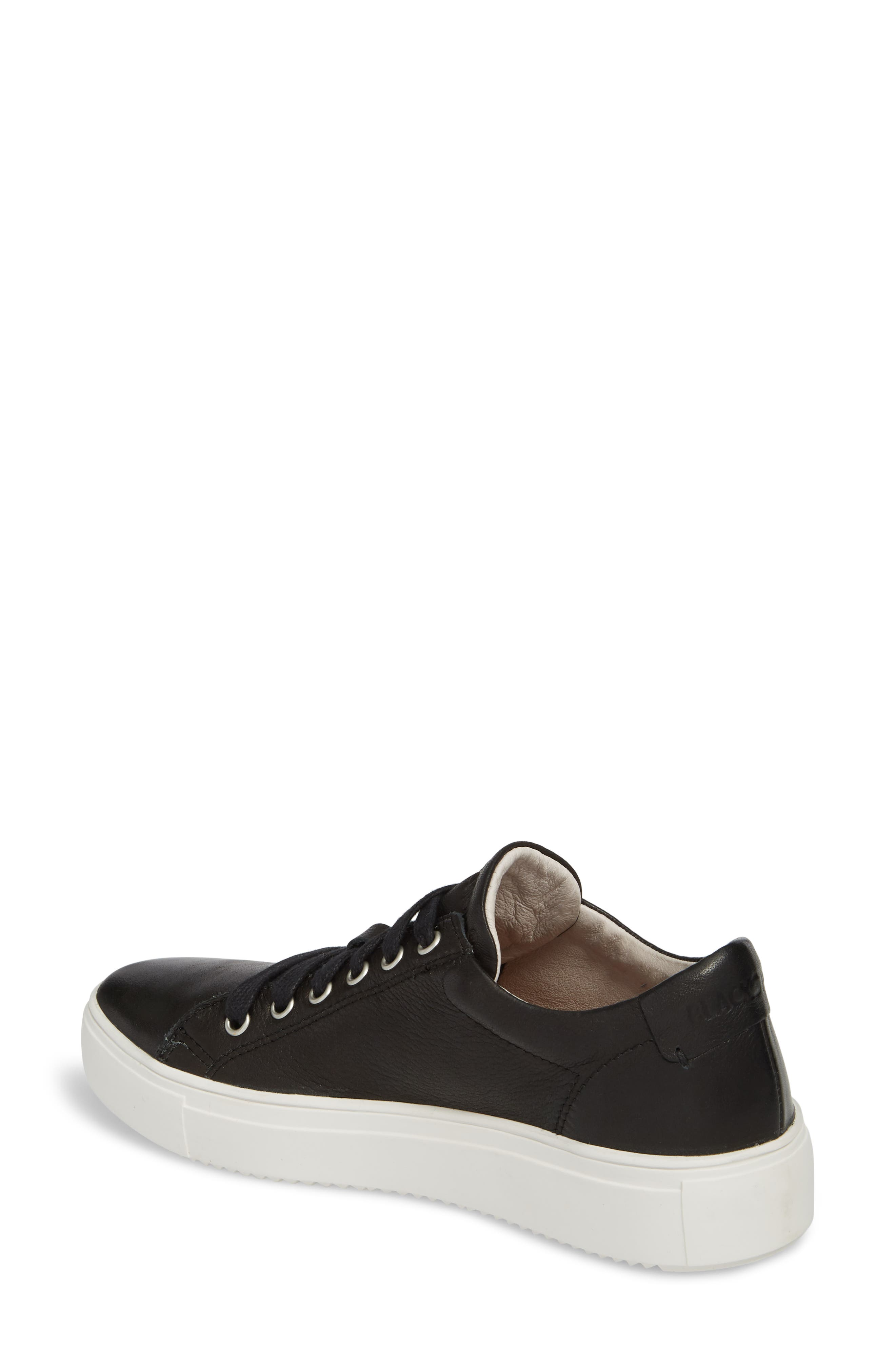 PL71 Low Top Sneaker,                             Alternate thumbnail 2, color,                             BLACK LEATHER