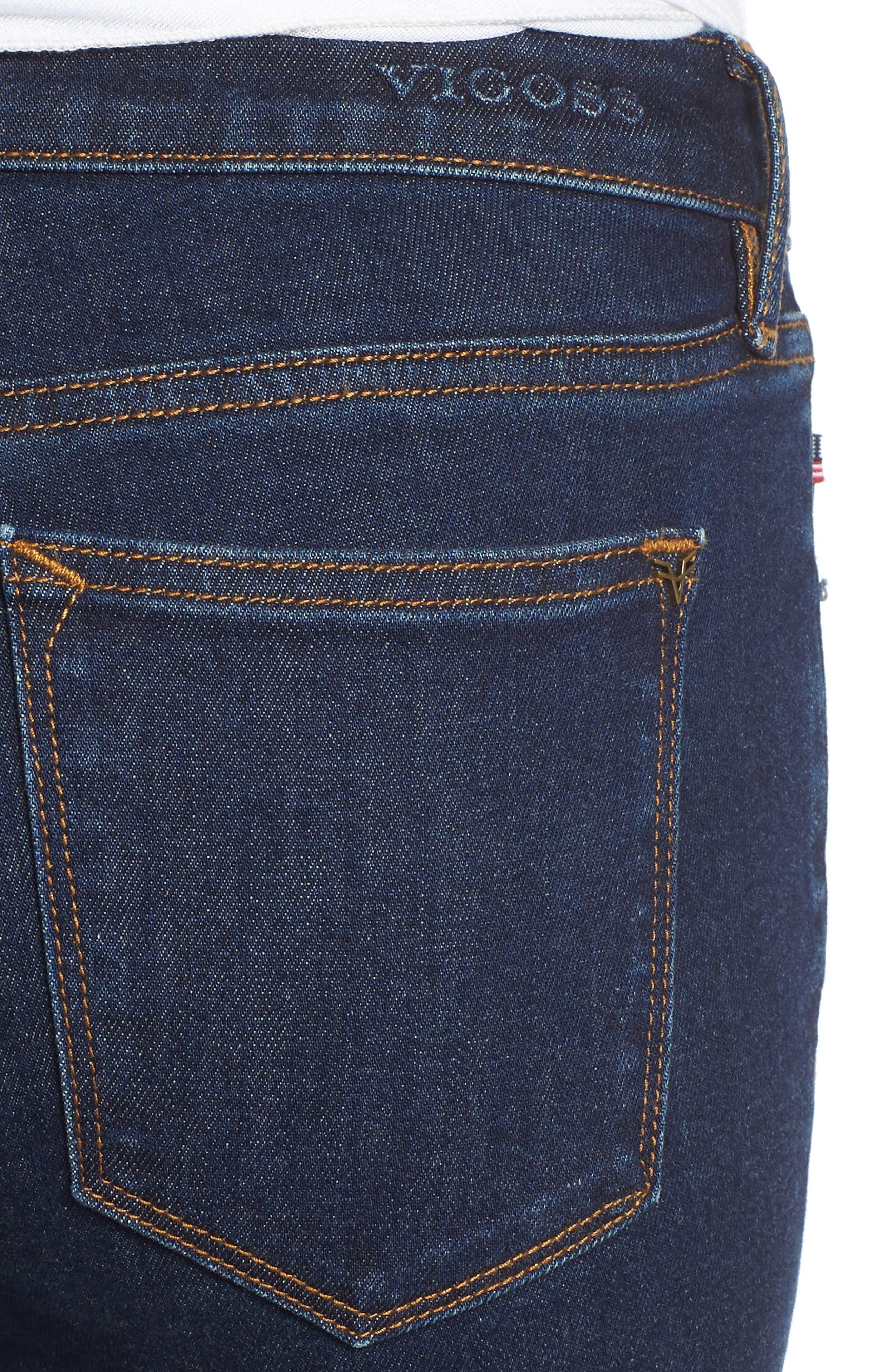 Jagger Skinny Jeans,                             Alternate thumbnail 4, color,                             DARK WASH