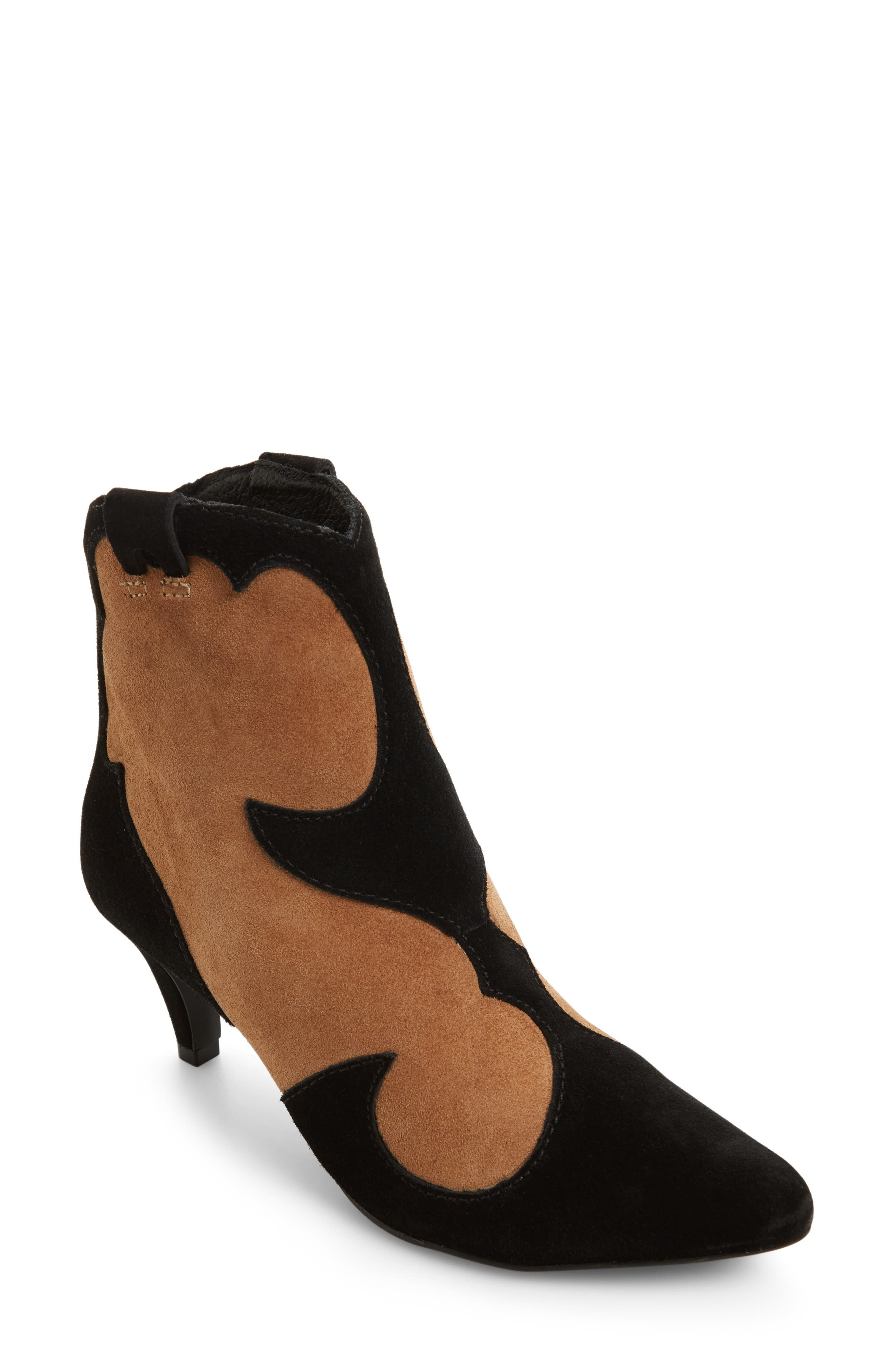 Majesty Two-Tone Bootie,                             Main thumbnail 1, color,                             001