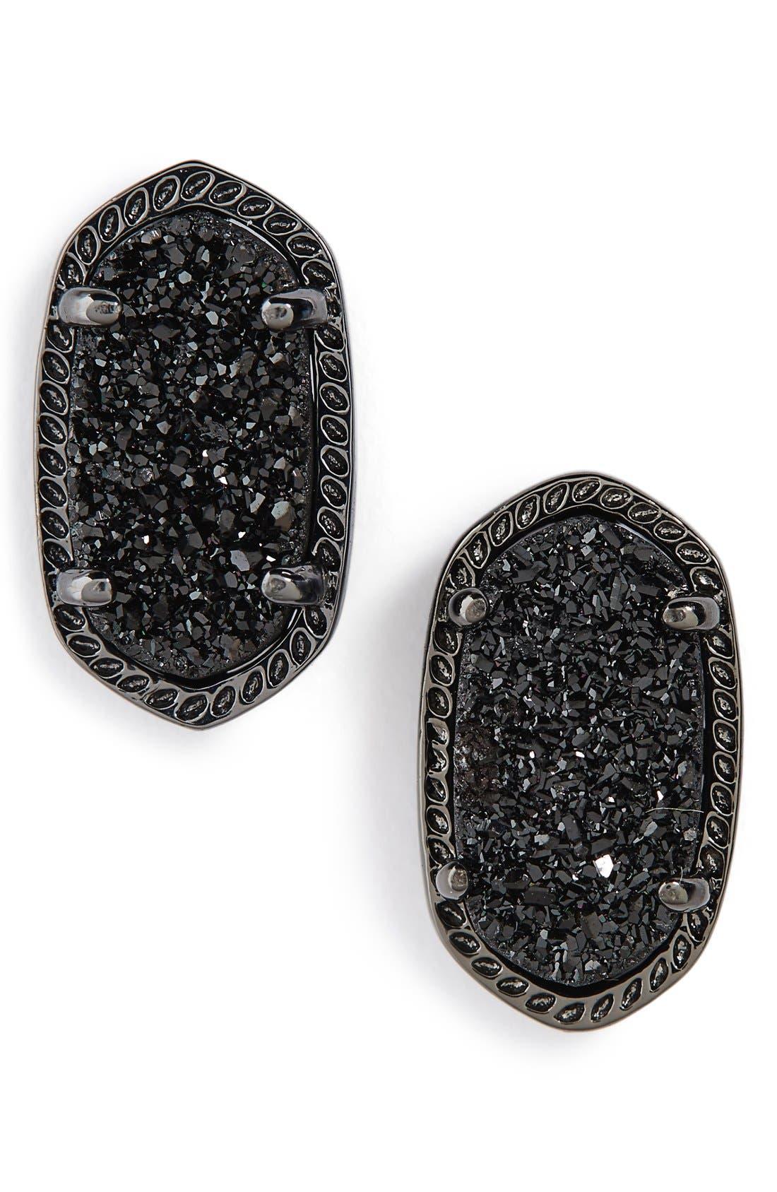 Ellie Oval Stone Stud Earrings,                             Main thumbnail 1, color,                             002