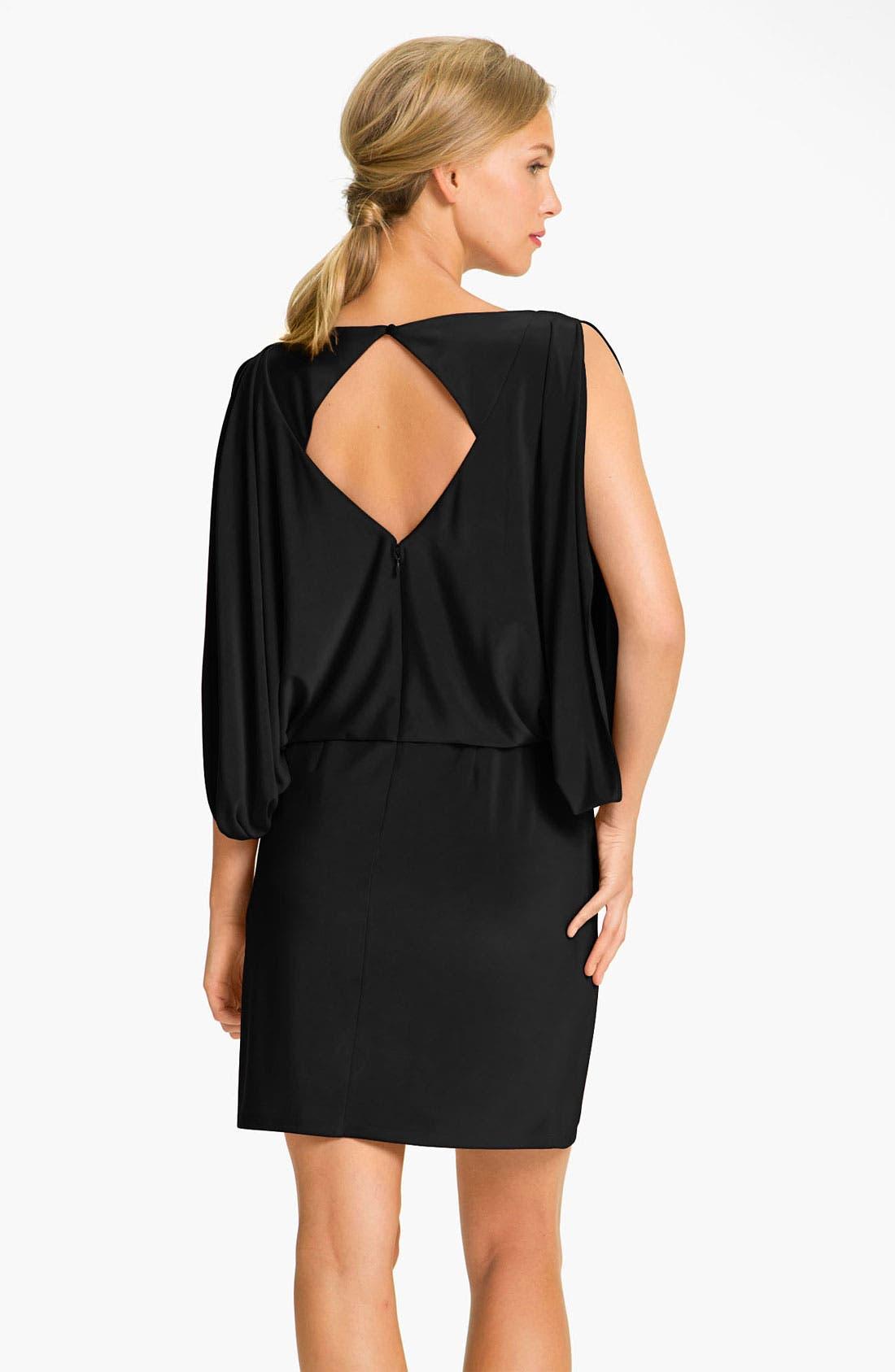 JESSICA SIMPSON,                             Draped Sleeve Jersey Blouson Dress,                             Alternate thumbnail 2, color,                             001