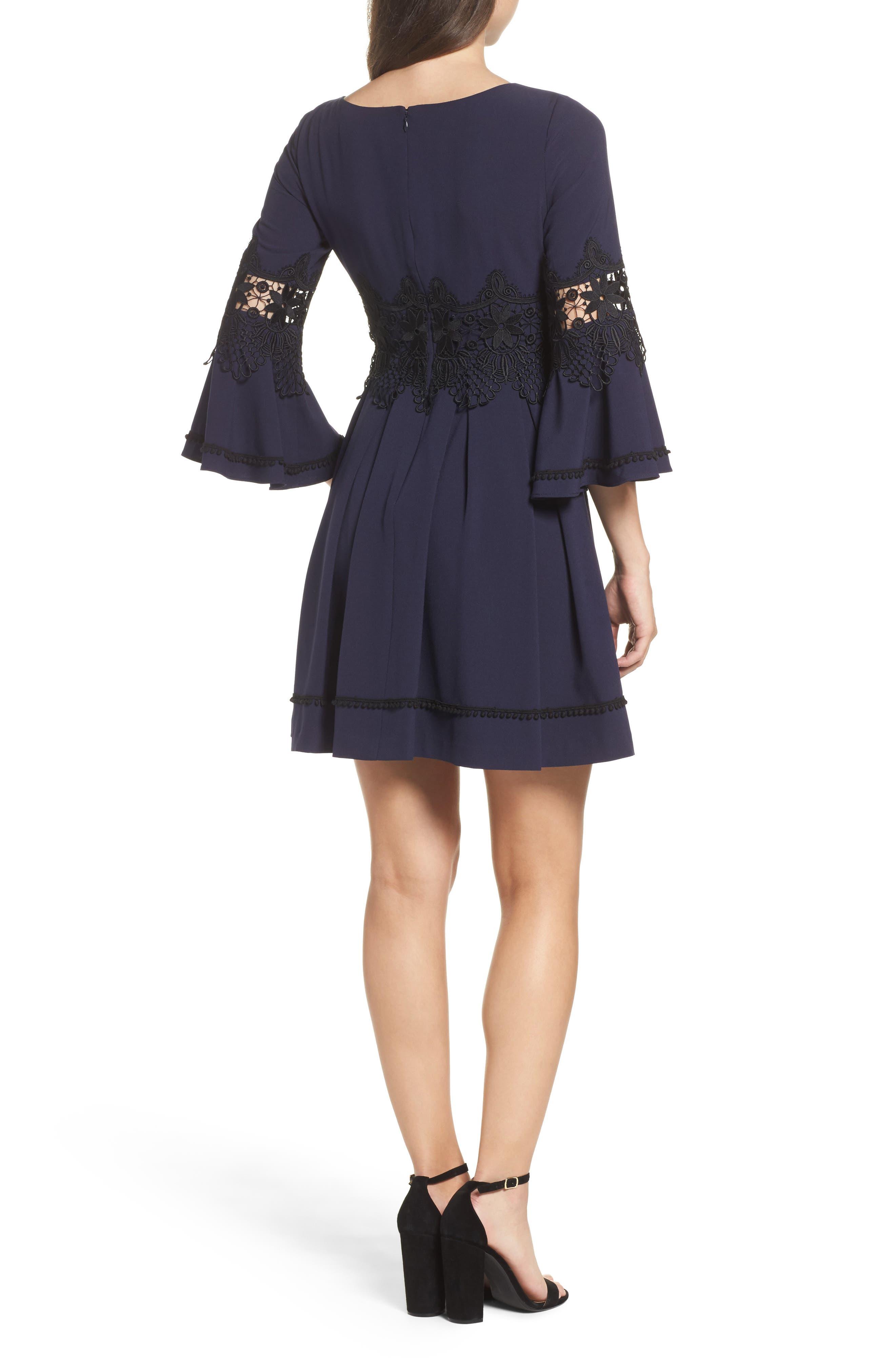 Lace Detail A-Line Dress,                             Alternate thumbnail 2, color,                             488