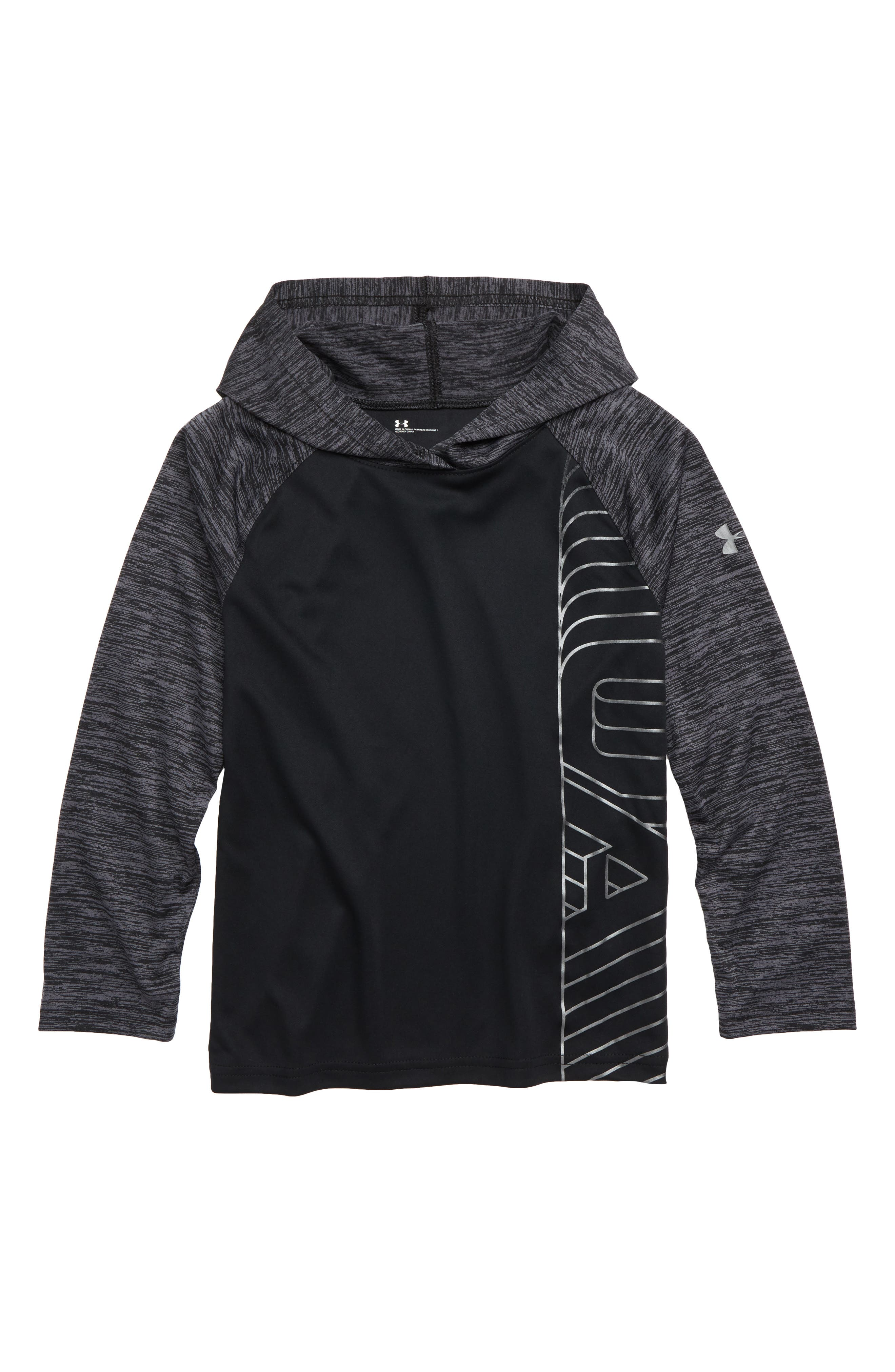 Twist Raglan Hoodie, Main, color, BLACK