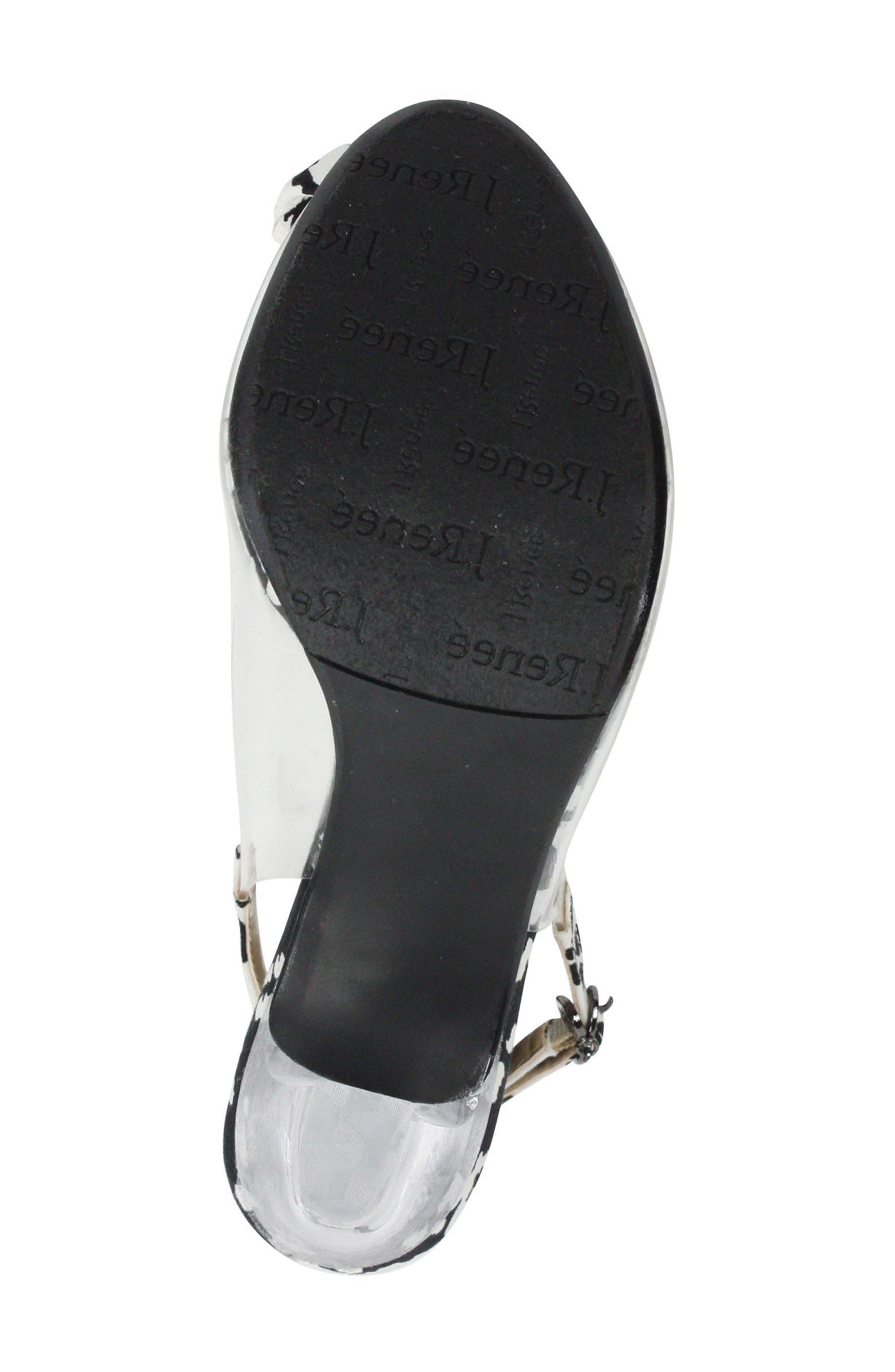 Adoracion Slingback Sandal,                             Alternate thumbnail 6, color,                             CLEAR/ BLACK/ WHITE