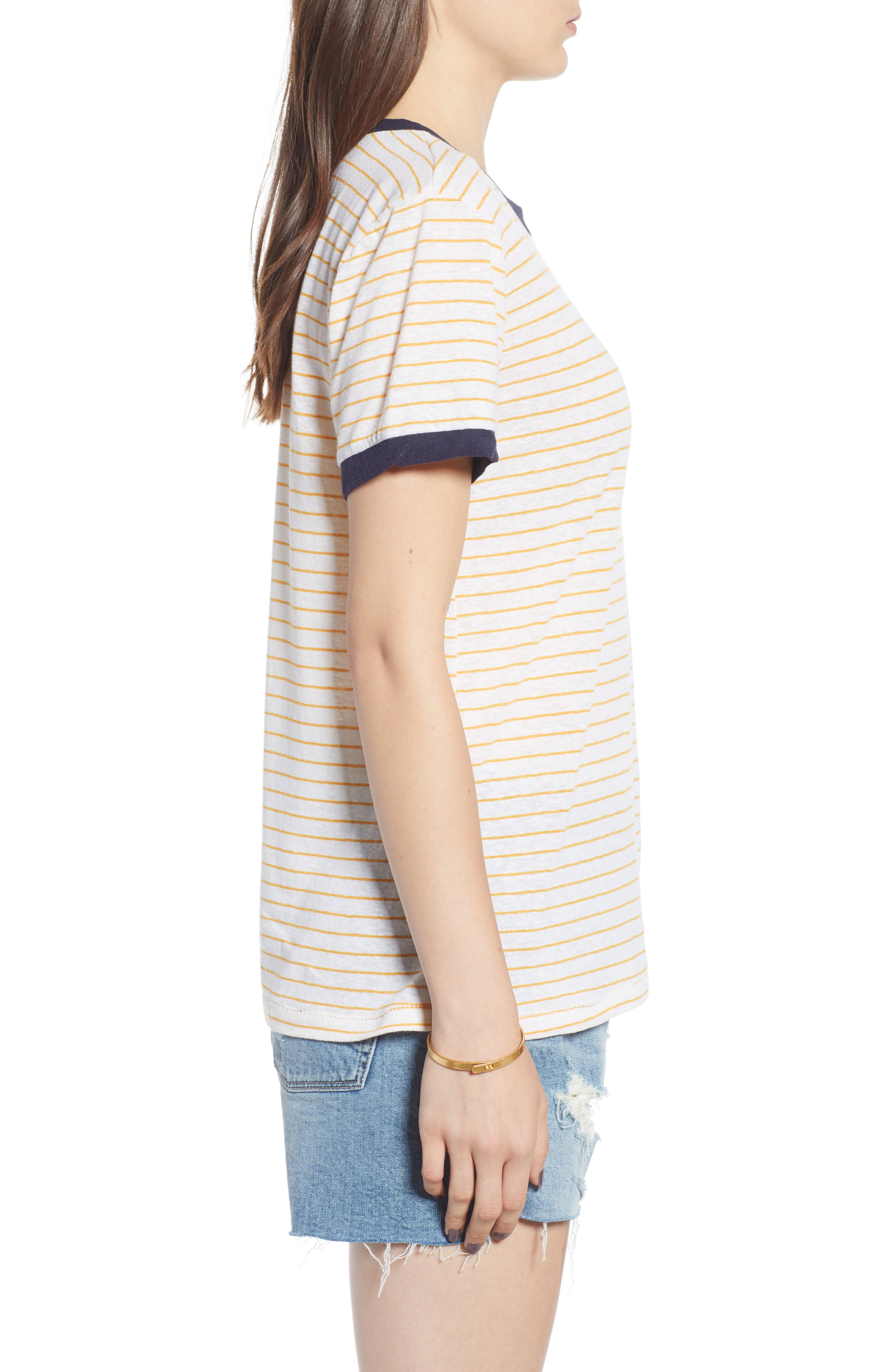 Stripe Ringer Tee,                             Alternate thumbnail 3, color,