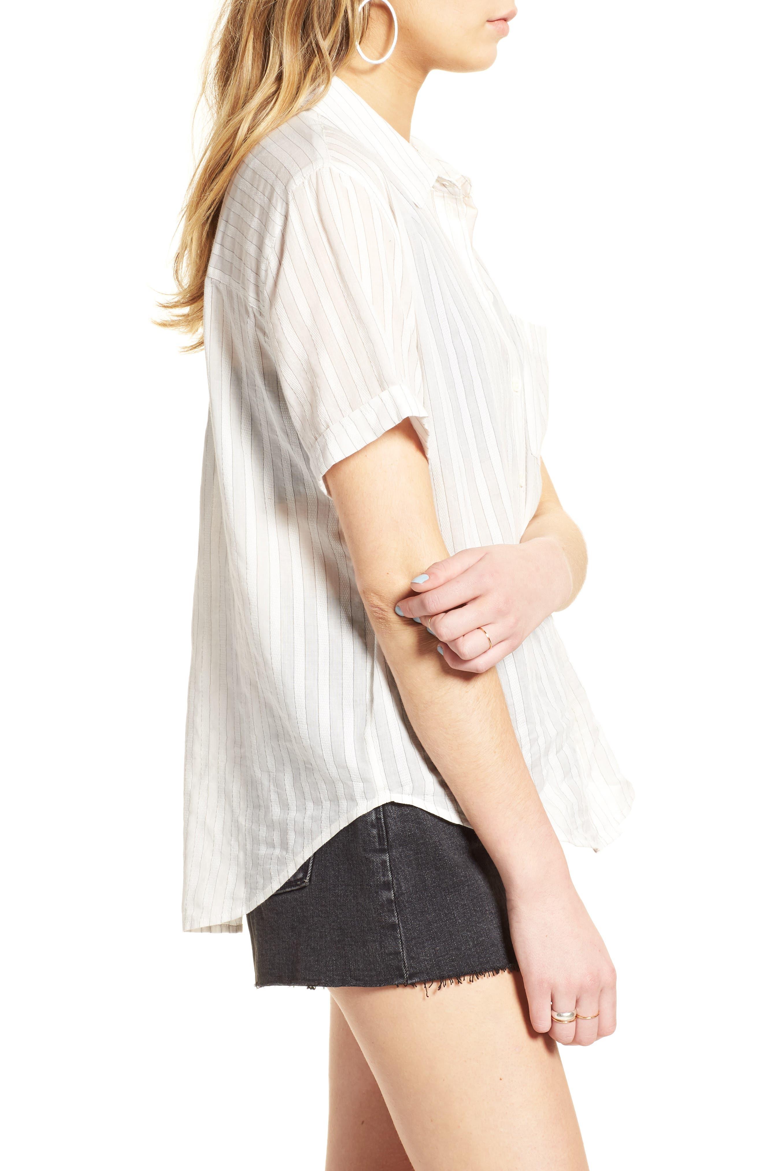 Stripe Shirt,                             Alternate thumbnail 3, color,                             100