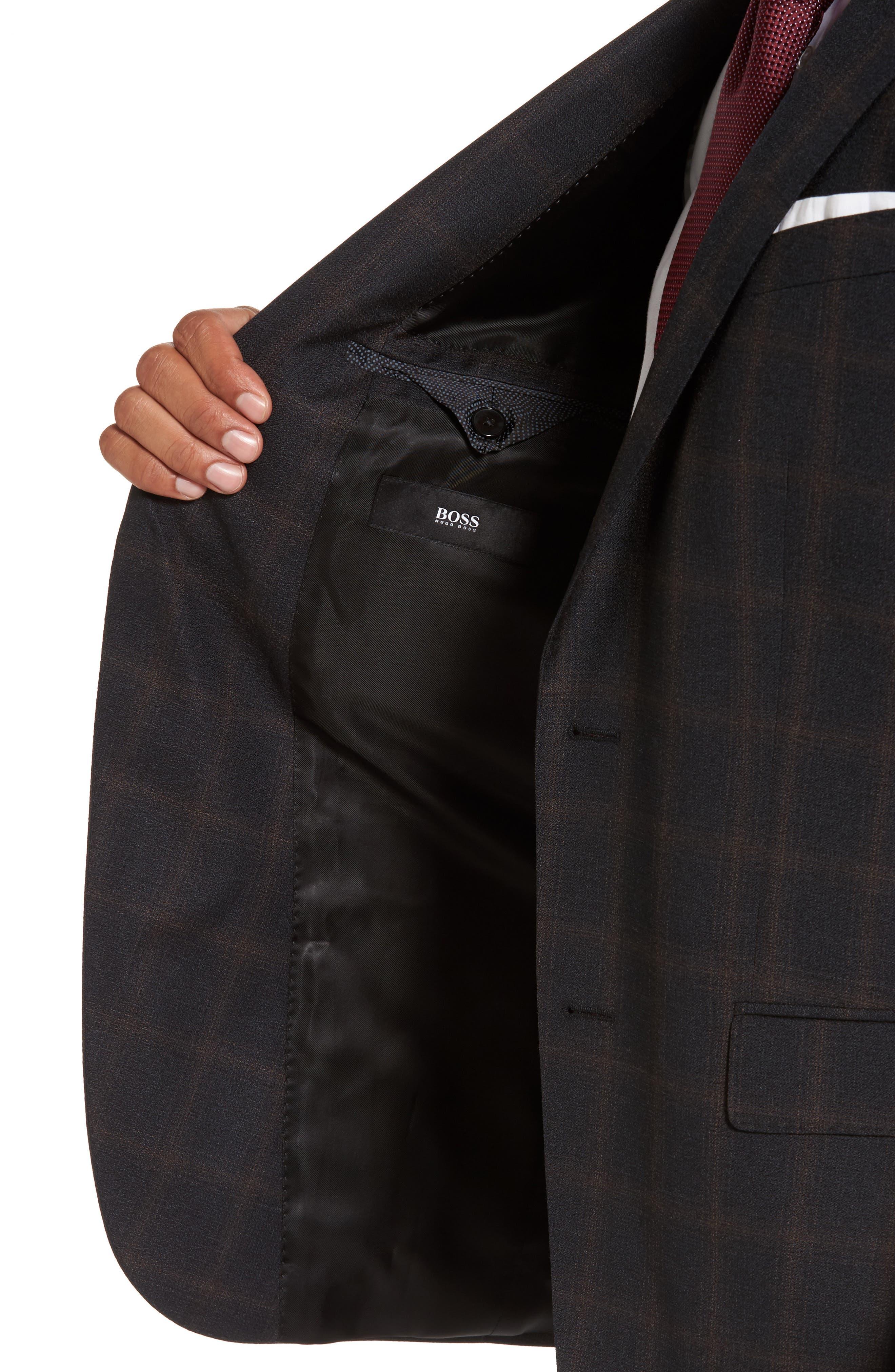 Novan/Ben Trim Fit Plaid Wool Suit,                             Alternate thumbnail 4, color,                             061