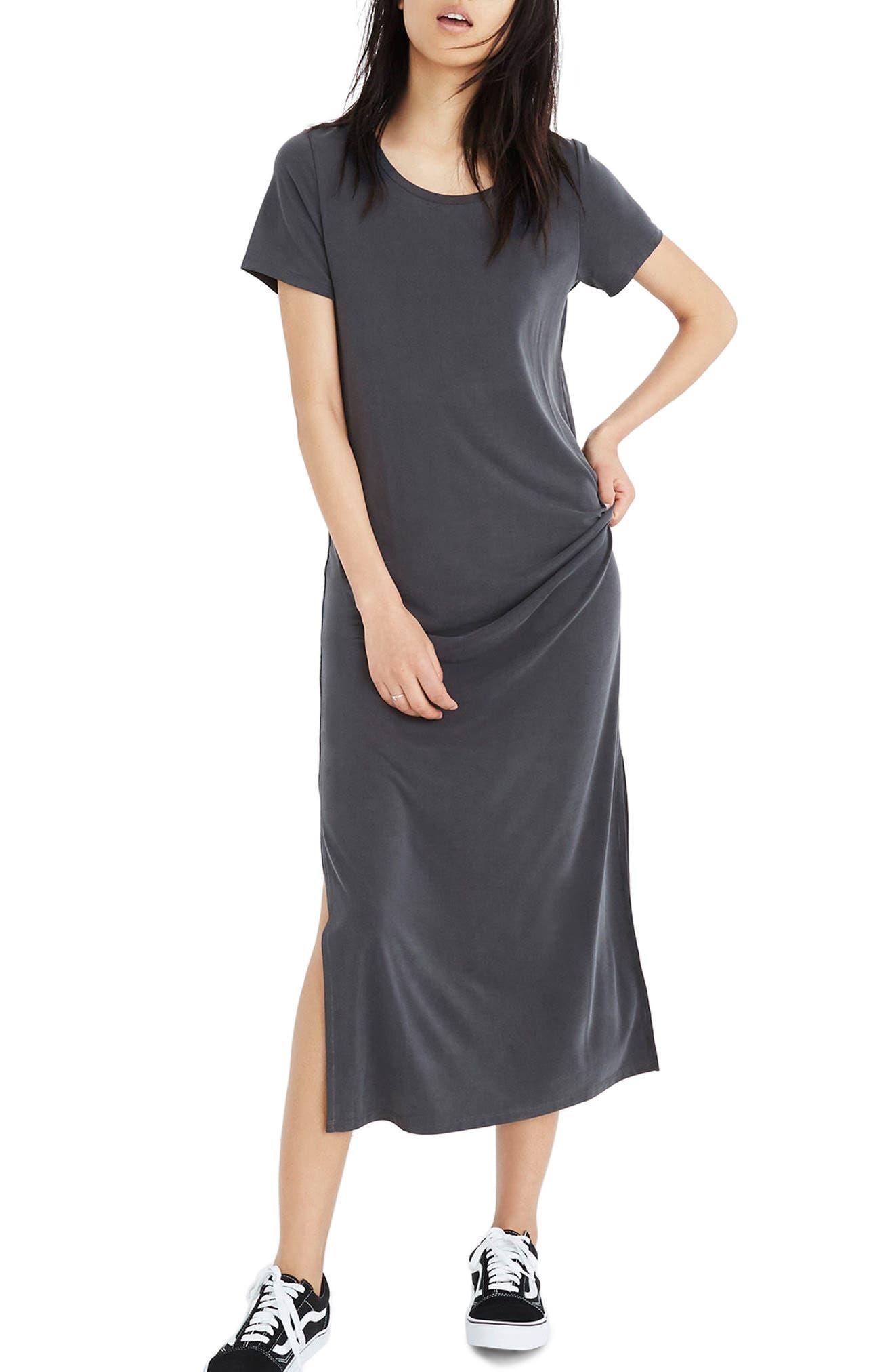 Sandwashed Maxi T-Shirt Dress,                             Main thumbnail 1, color,                             020